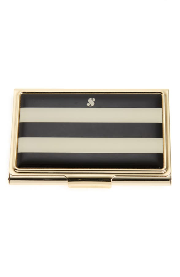 Business card holder new york choice image card design and card kate spade new york down to business initial card holder nordstrom main image kate spade new colourmoves
