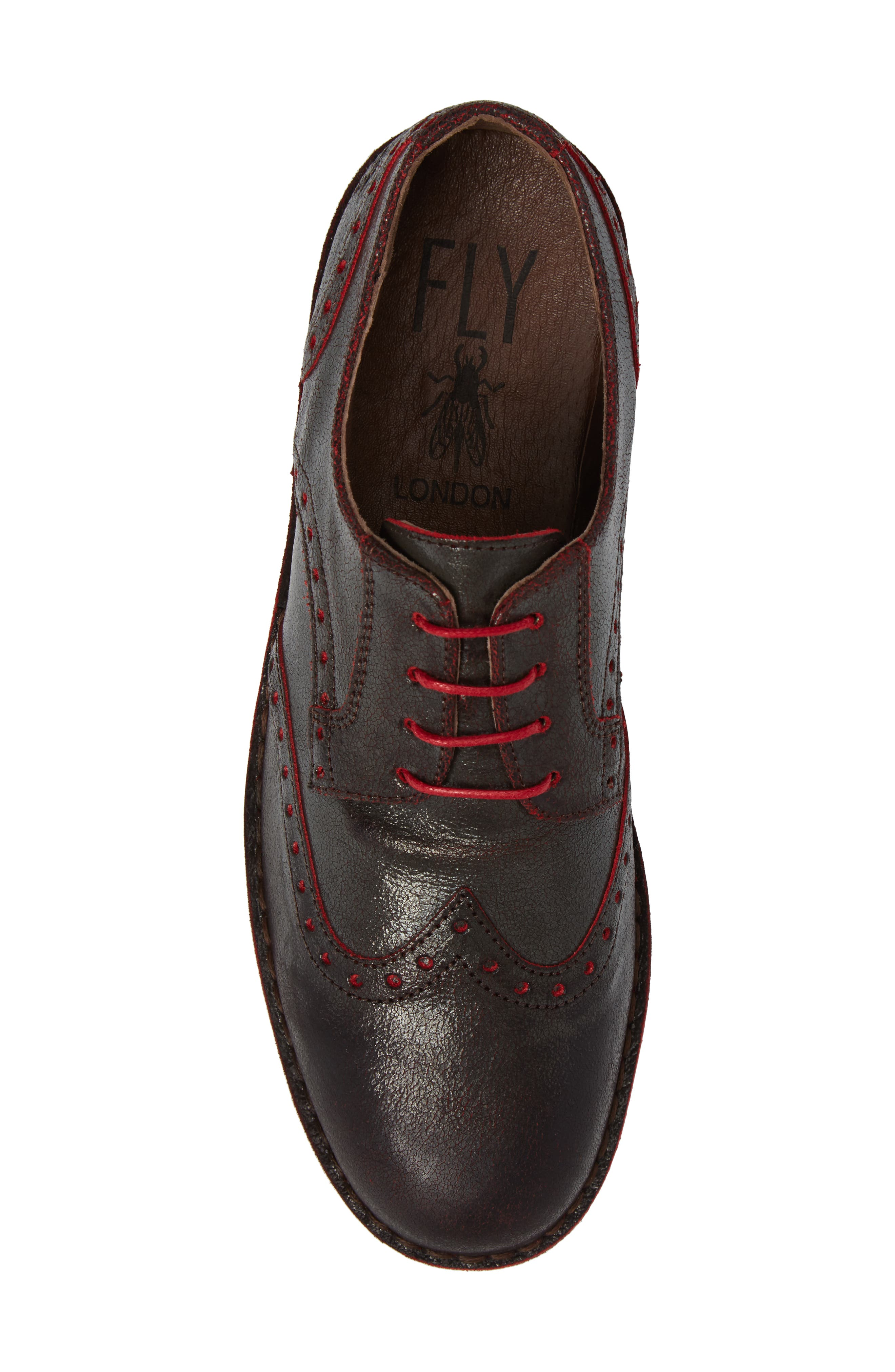 Idal Wingtip,                             Alternate thumbnail 4, color,                             Brown/ Red