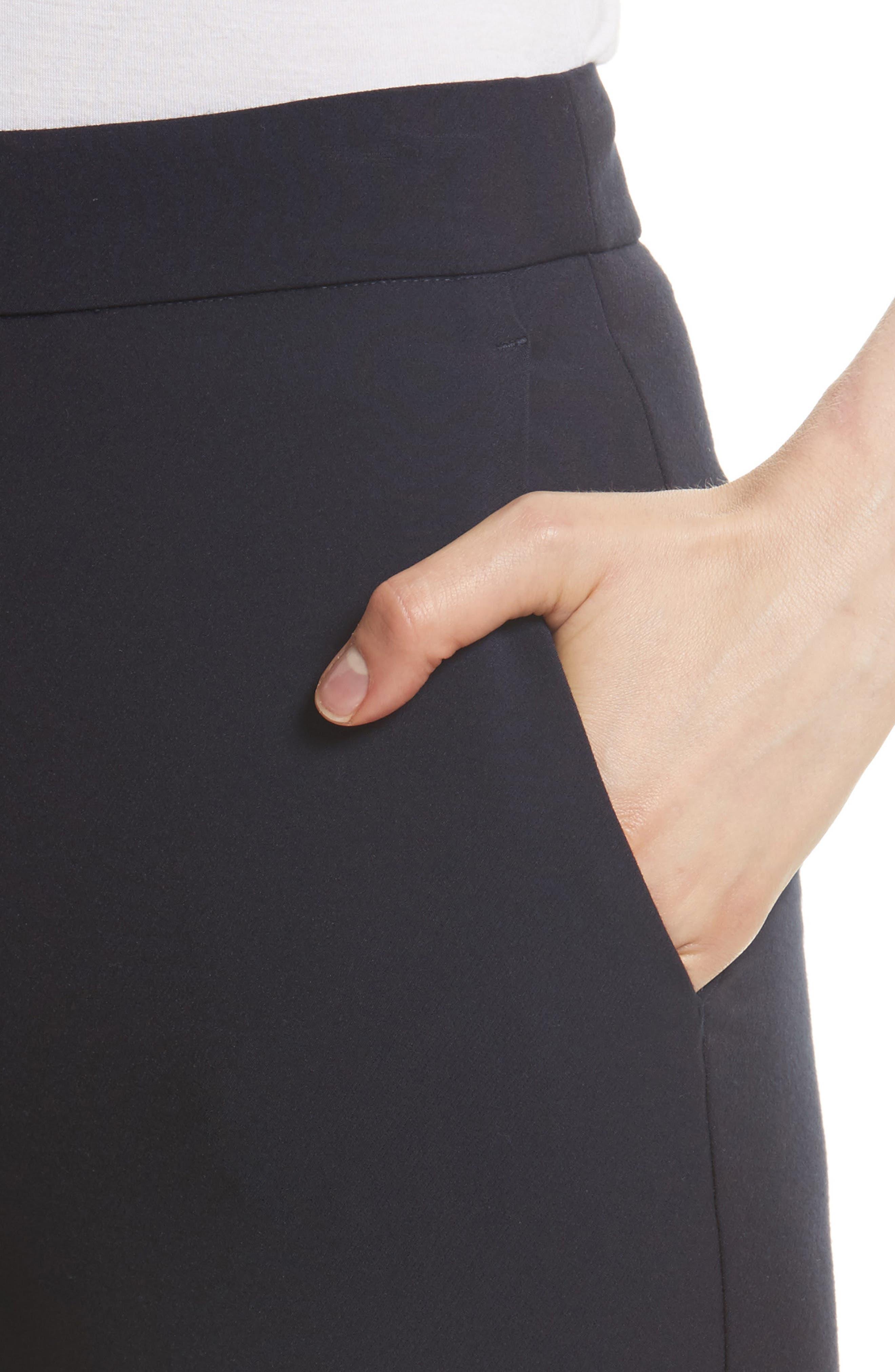 Stretch Suit Pants,                             Alternate thumbnail 4, color,                             Dark Navy