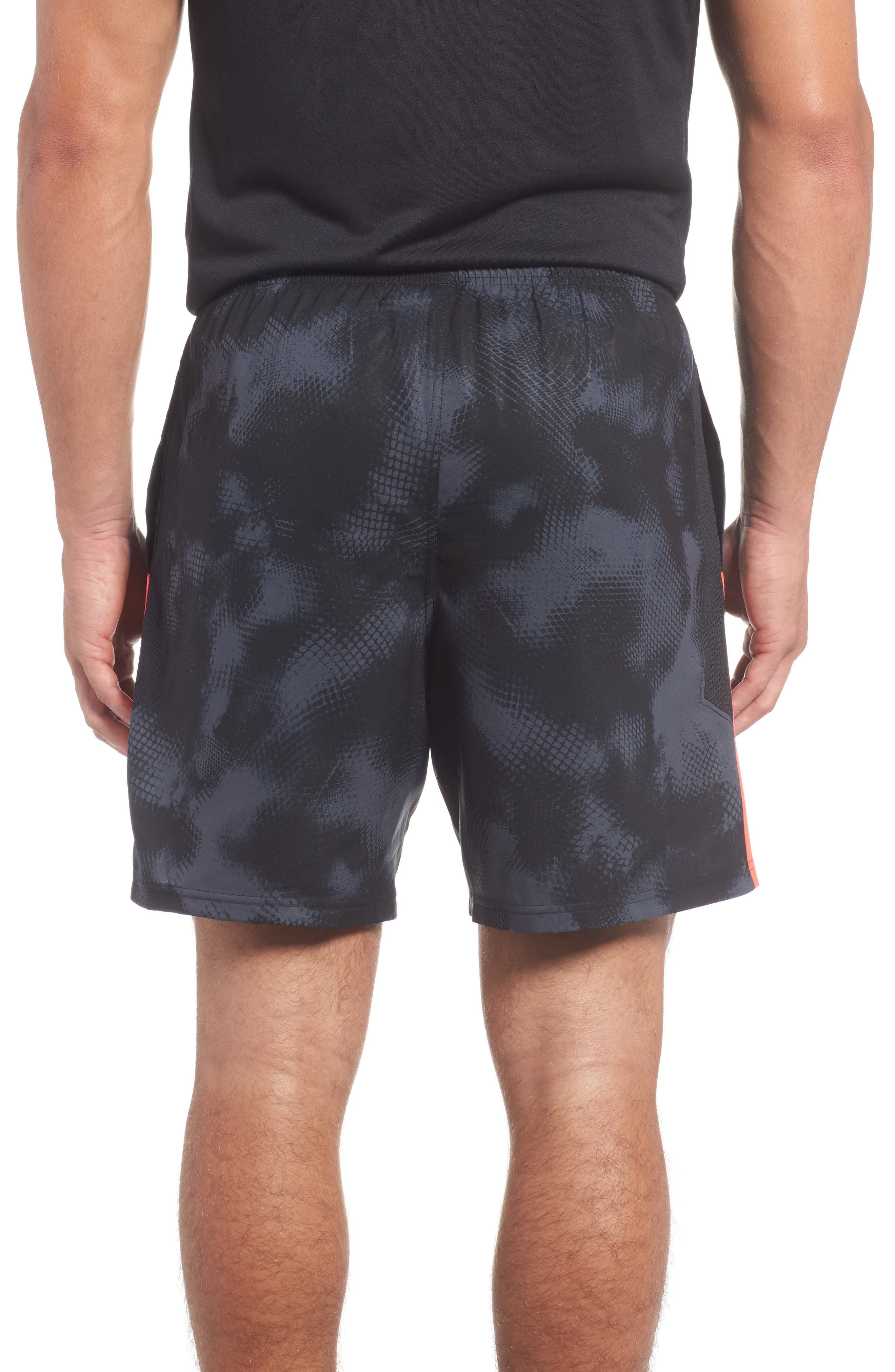 Launch Running Shorts,                             Alternate thumbnail 2, color,                             Black/ Red/ Reflective