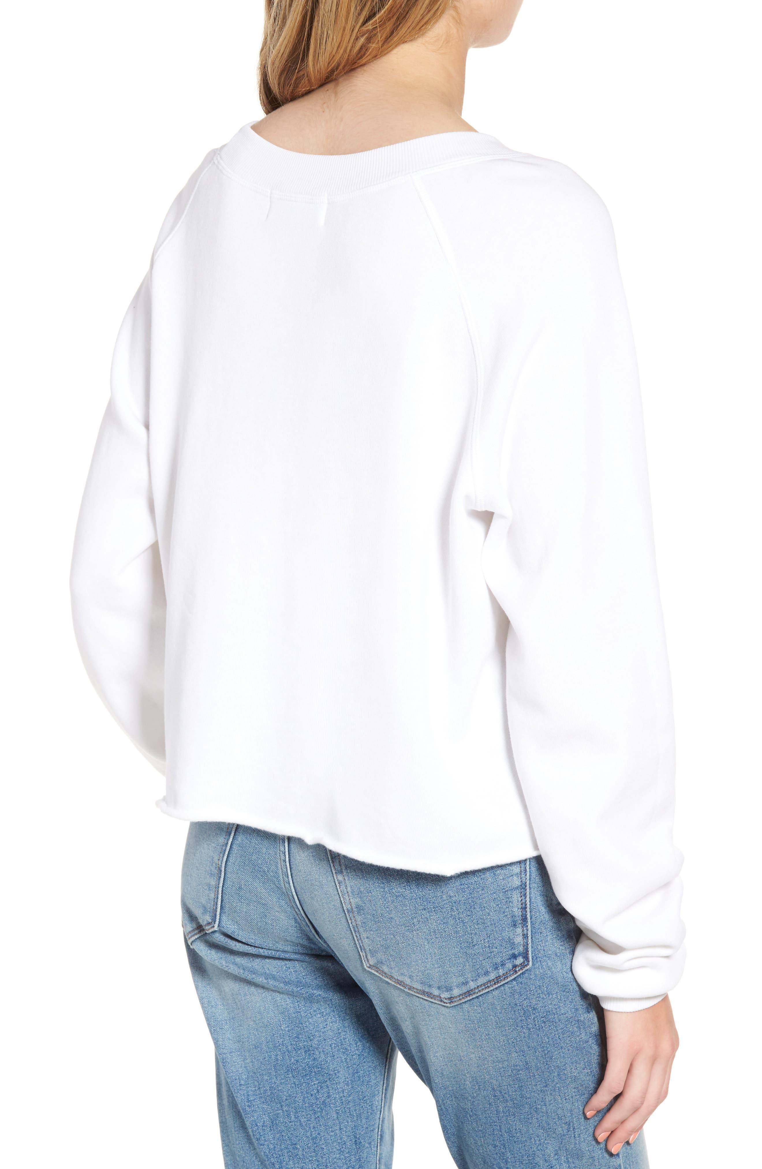 My Boyfriend's a Cowboy Crop Sweatshirt,                             Alternate thumbnail 2, color,                             Cowboy White