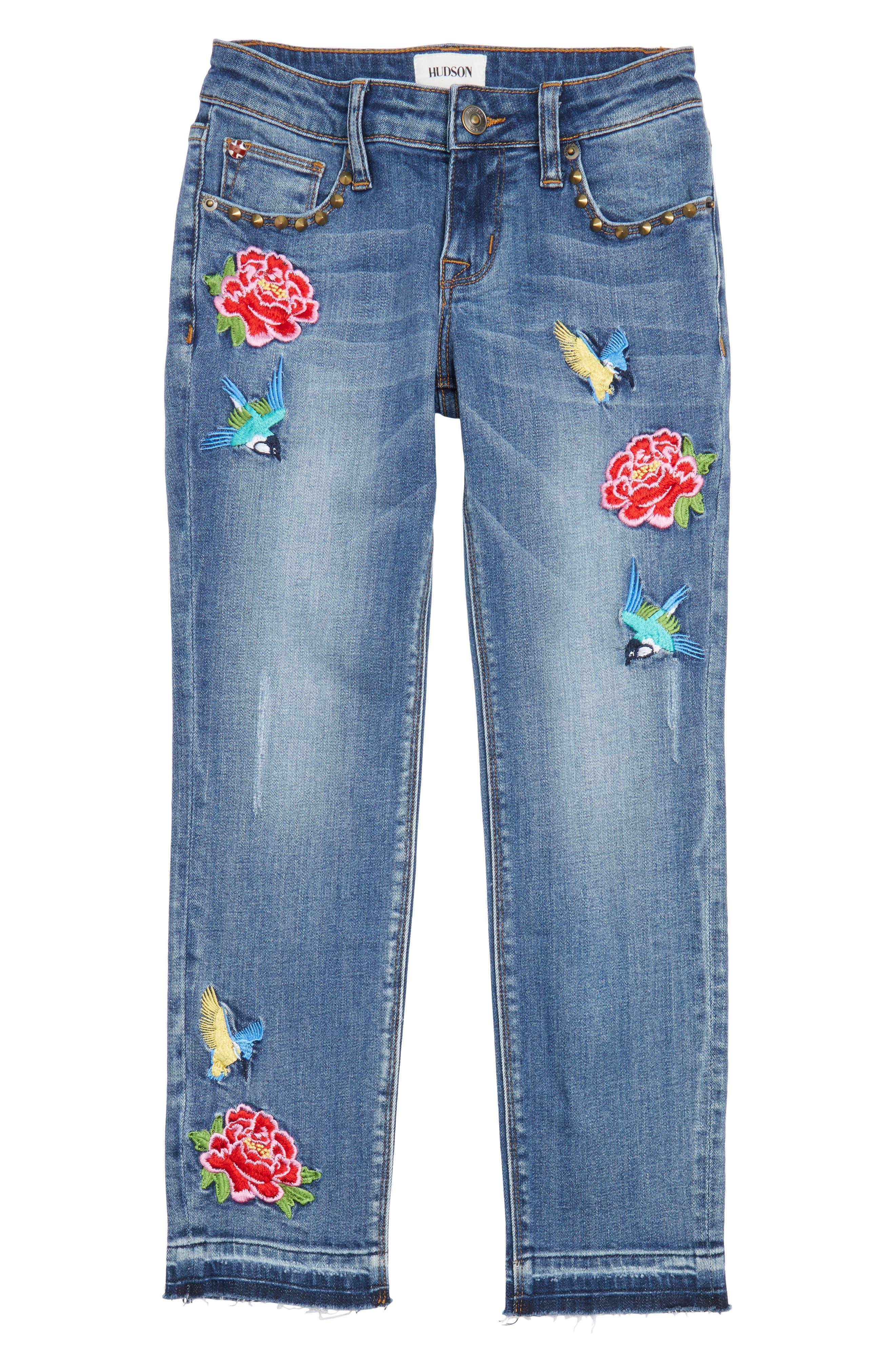 Freebird Girlfriend Jeans,                             Main thumbnail 1, color,                             Hippie Heaven