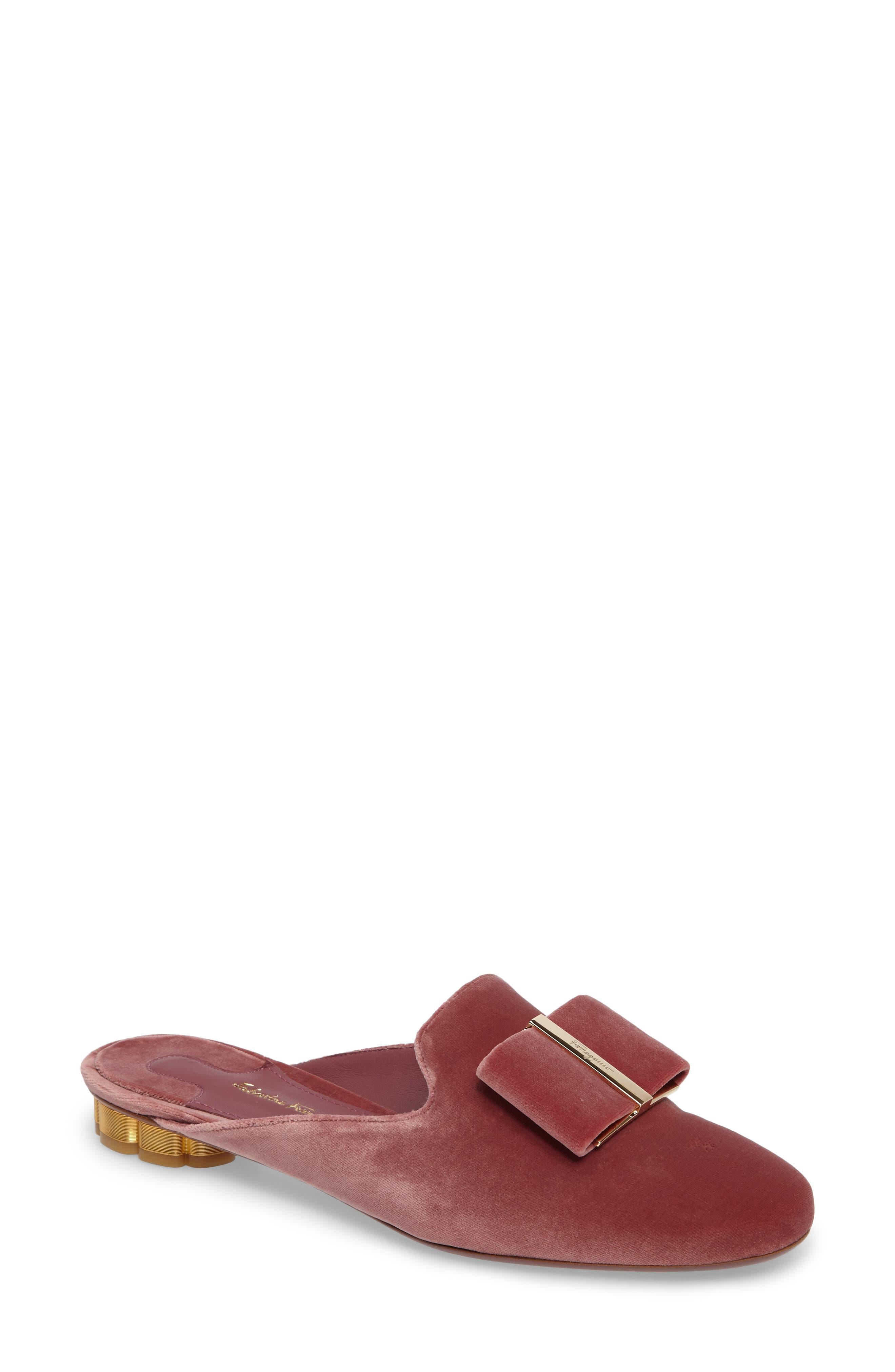 Backless Loafer Mule,                         Main,                         color, New Griotte Velvet