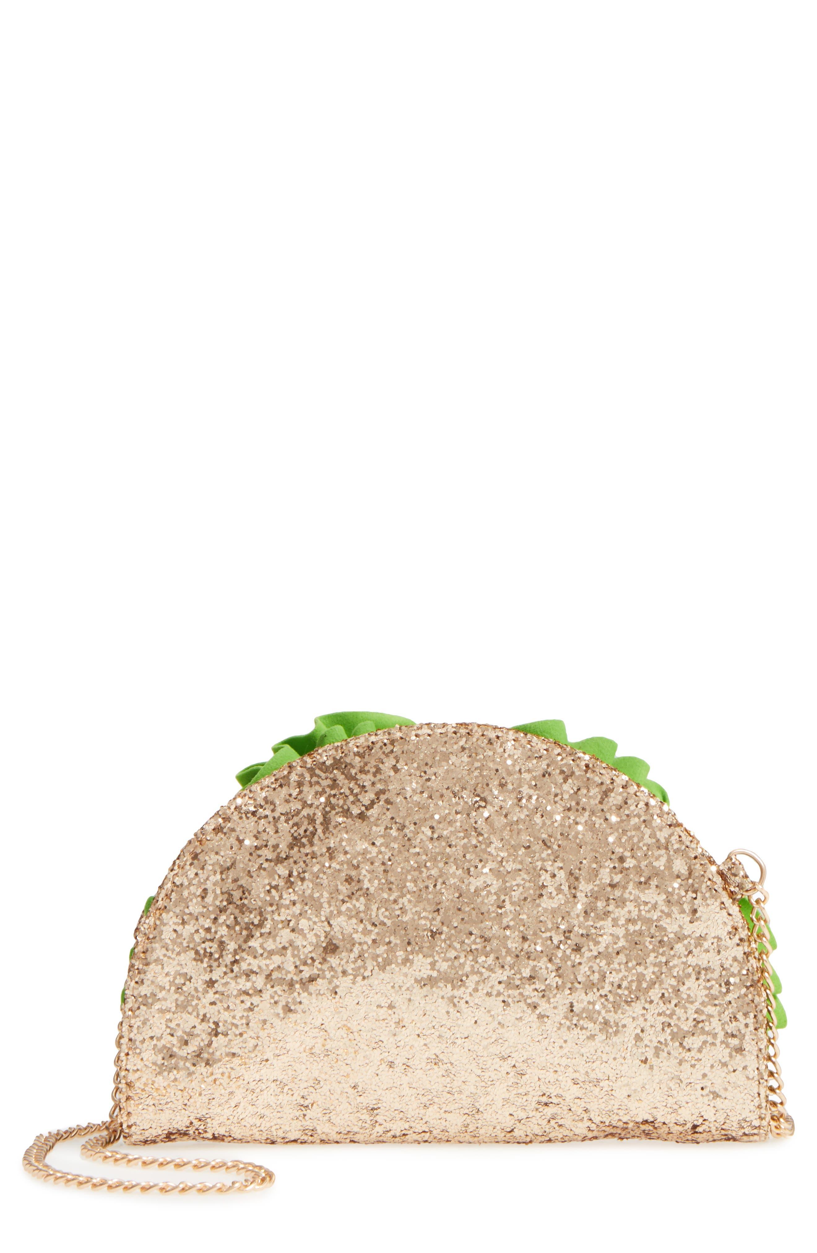 CAPELLI OF NEW YORK Glitter Taco Bag