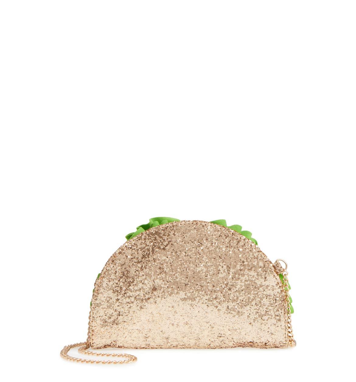 Cute glitter taco bag