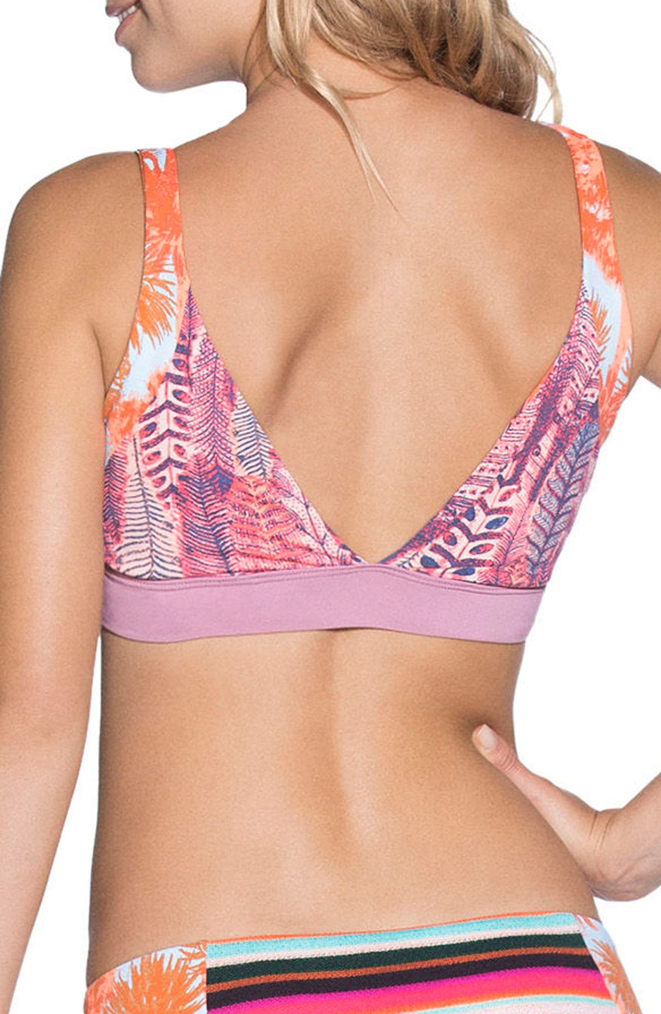 Featherful Decks Bikini Top,                             Alternate thumbnail 2, color,                             Blue Multi