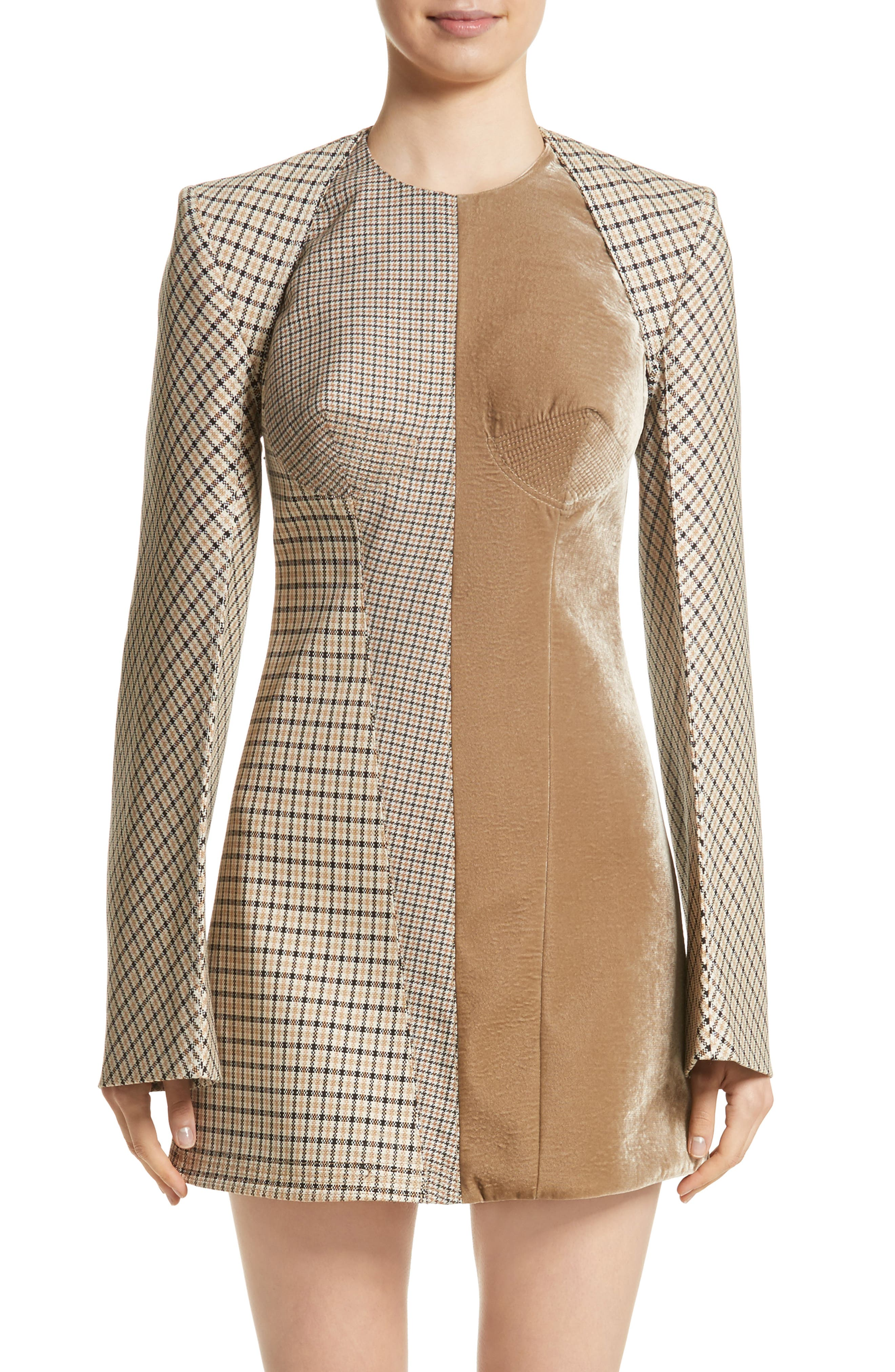 Alternate Image 1 Selected - Stella McCartney Check Wool Blend Shrug