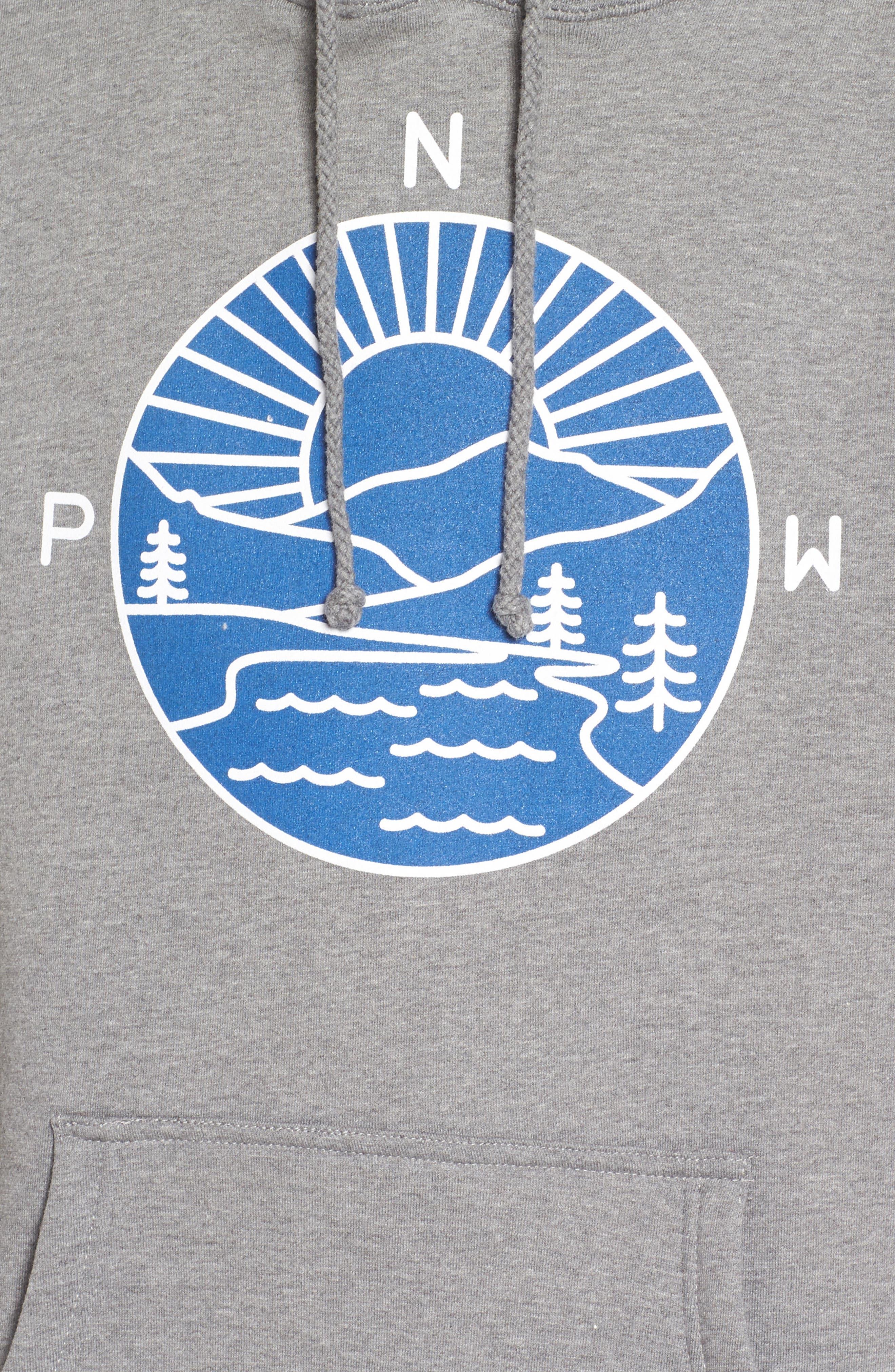 PNW Explorer Hoodie,                             Alternate thumbnail 5, color,                             Heather Gun Metal