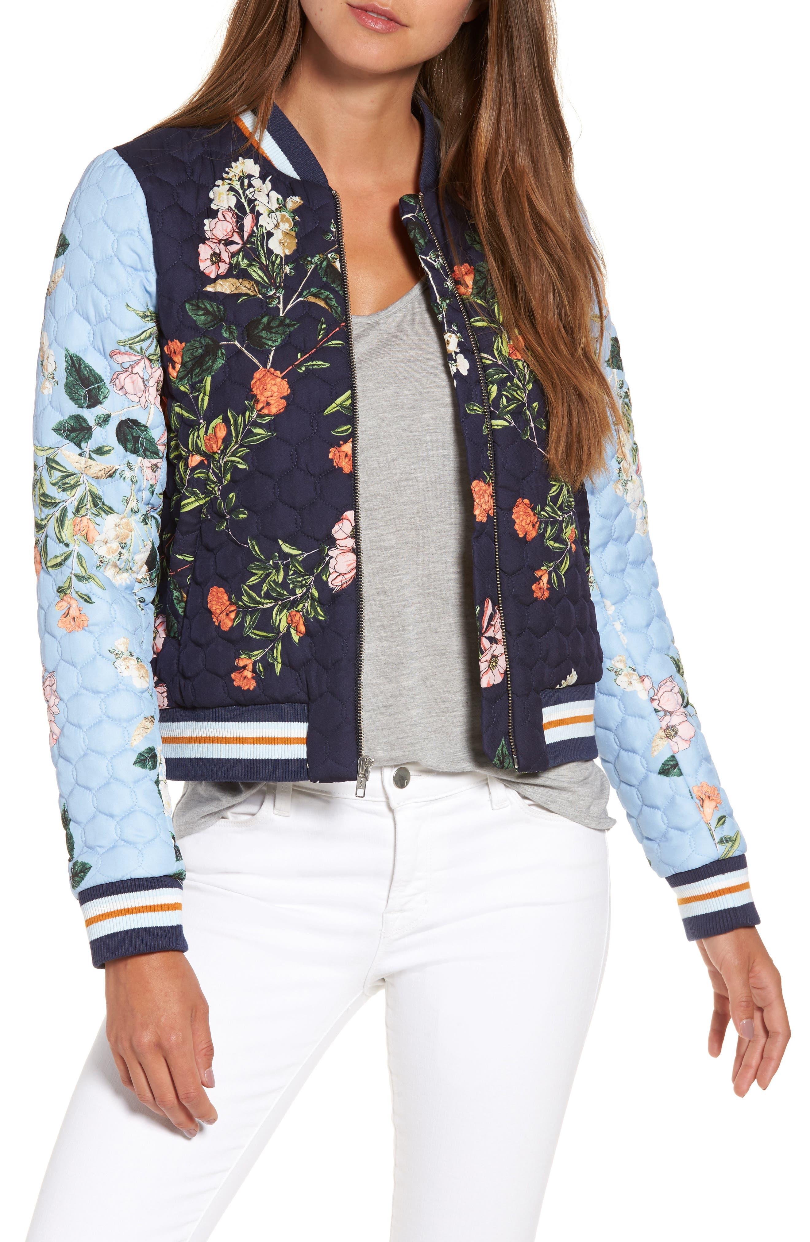 PARKER Combo Floral Print Jacket