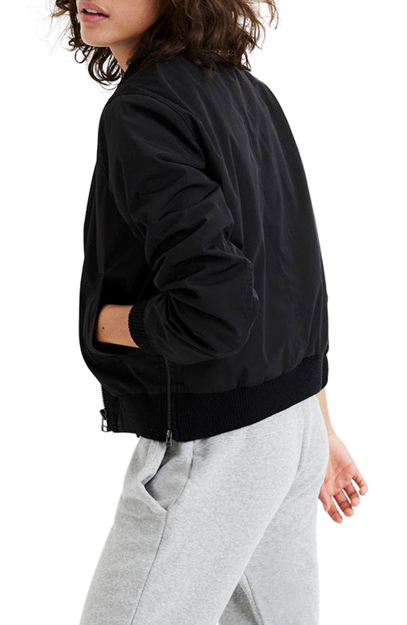 Alternate Image 2  - Madewell Side Zip Bomber Jacket