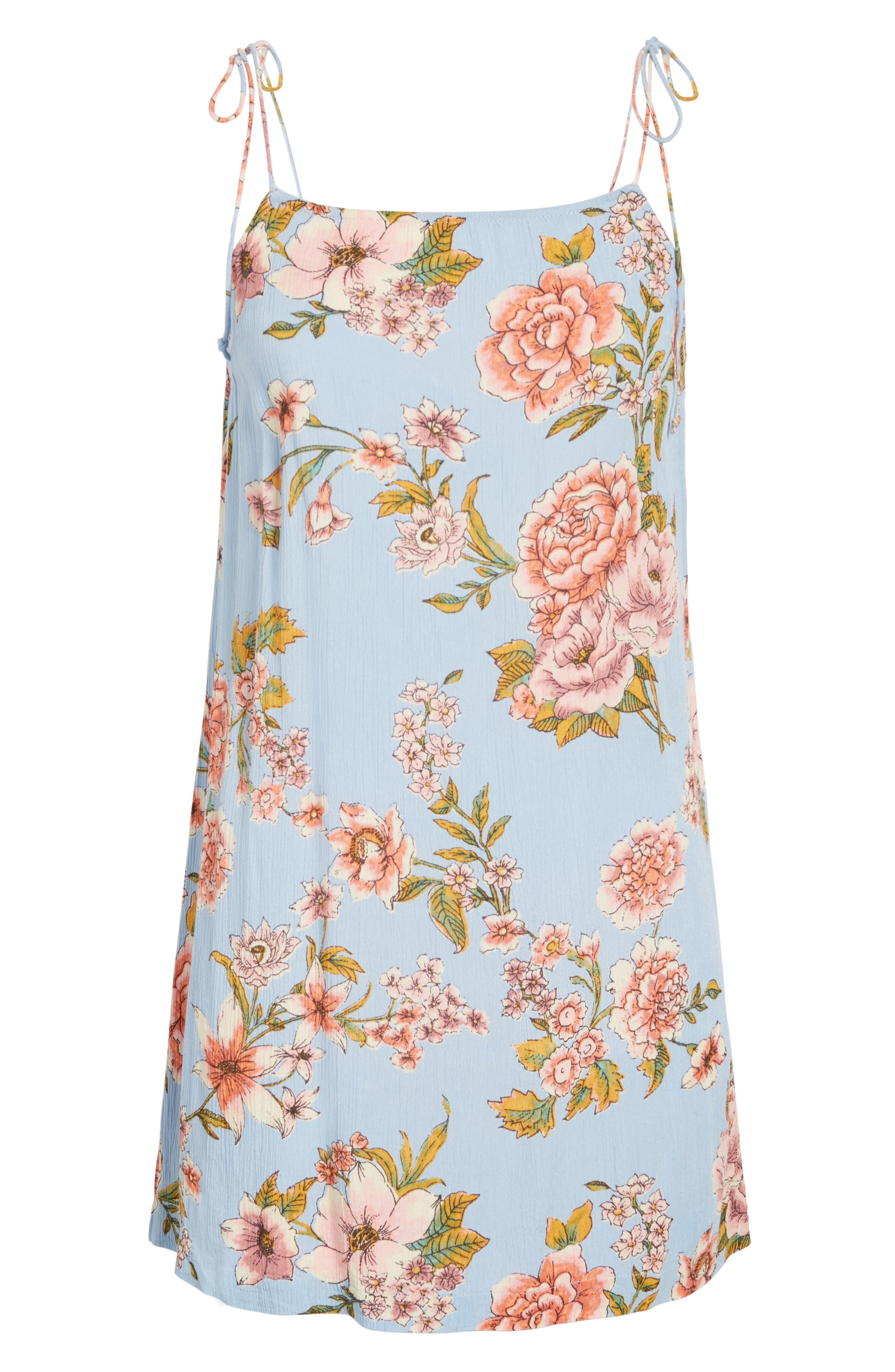 Alternate Image 6  - Billabong Night Out Floral Camisole Dress