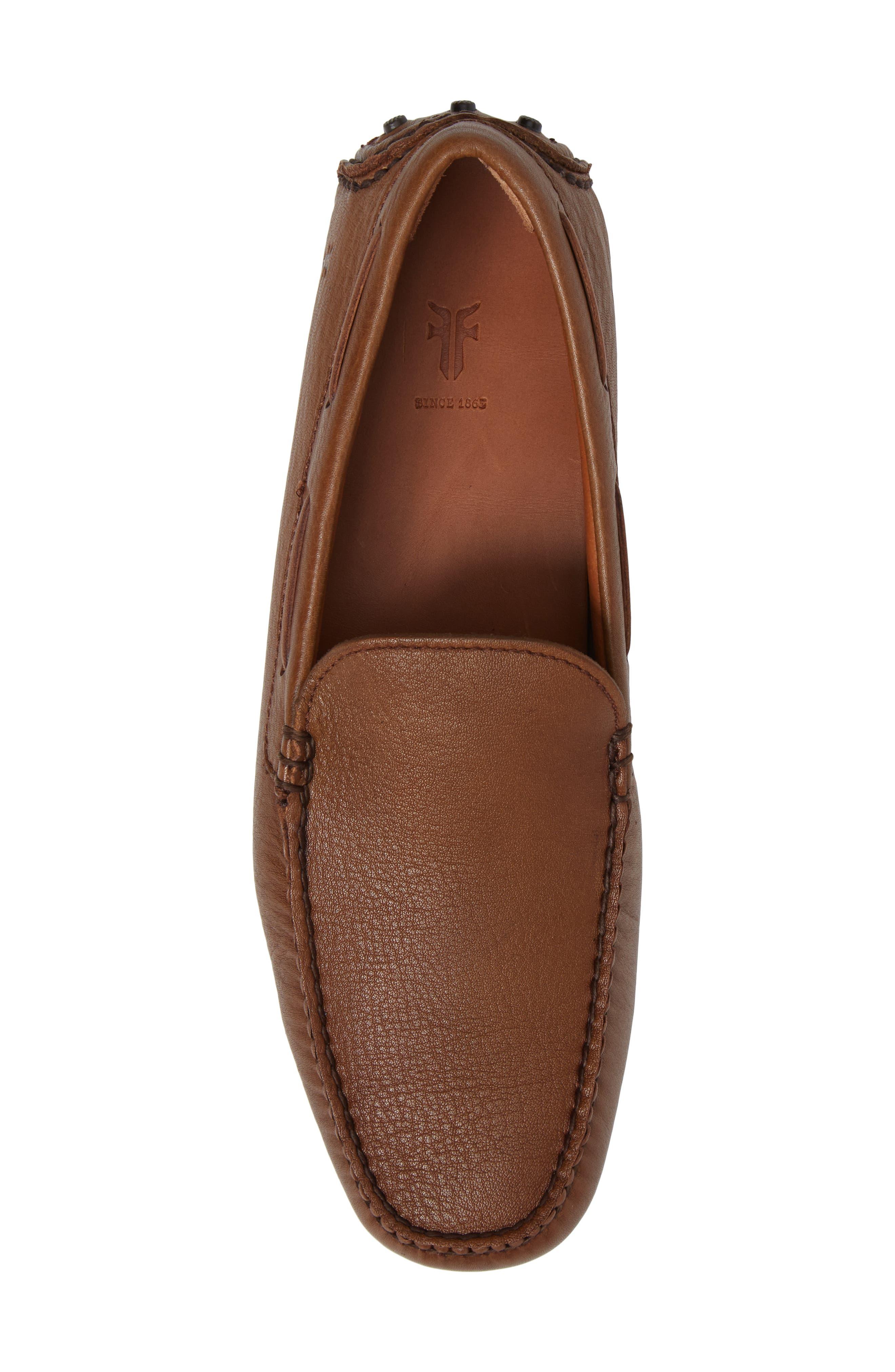 Allen Driving Shoe,                             Alternate thumbnail 4, color,                             Cognac