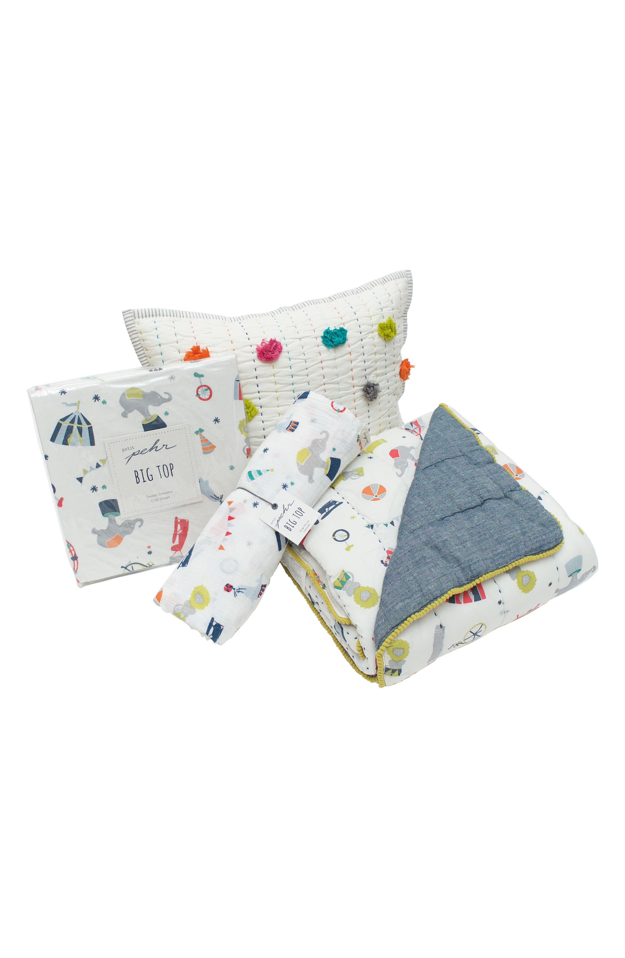 Petit Pehr Showers Crib Sheet, Swaddle, Blanket & Pillow Set (Baby)
