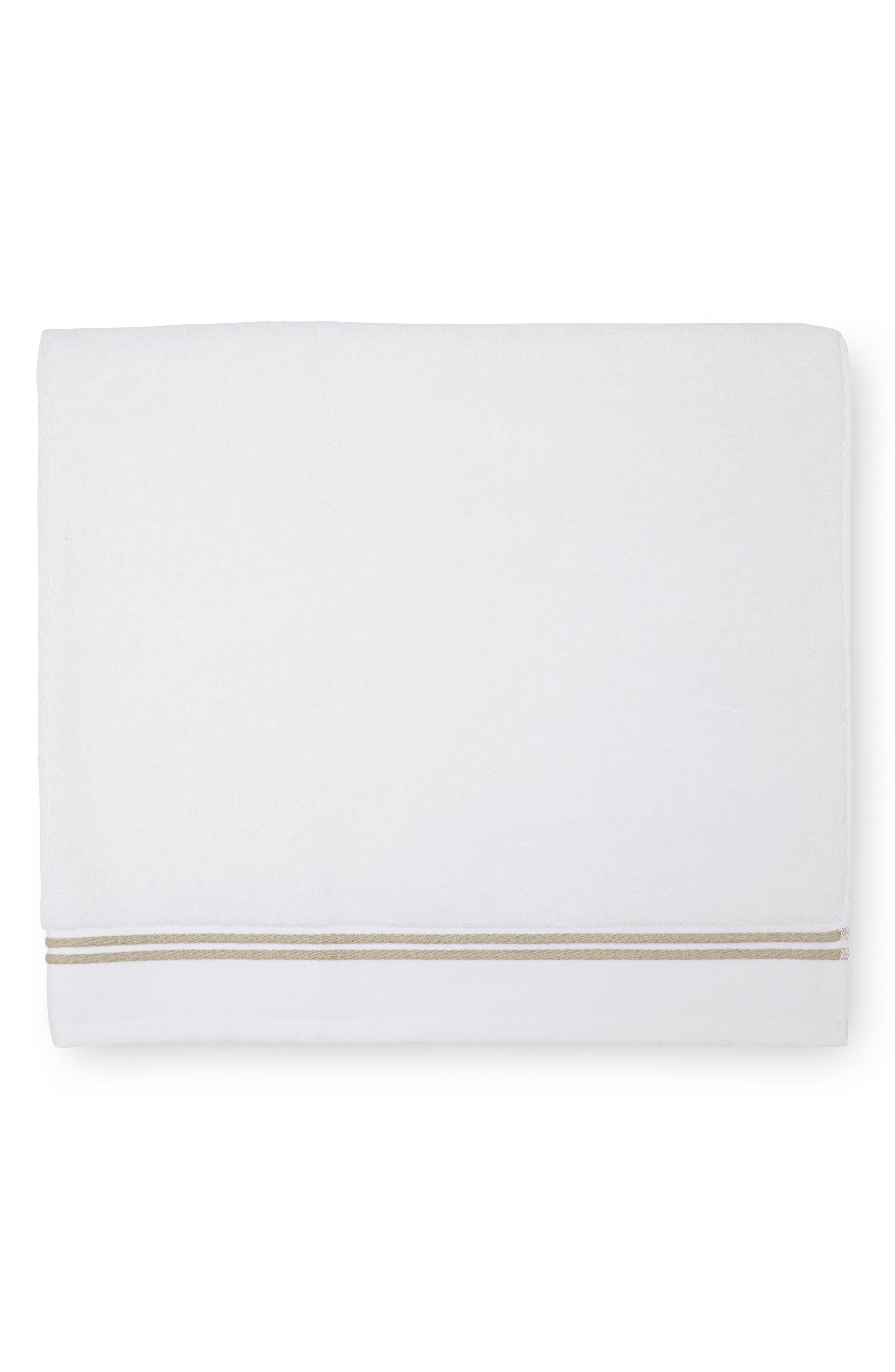 Aura Bath Sheet,                         Main,                         color, White/ Almond