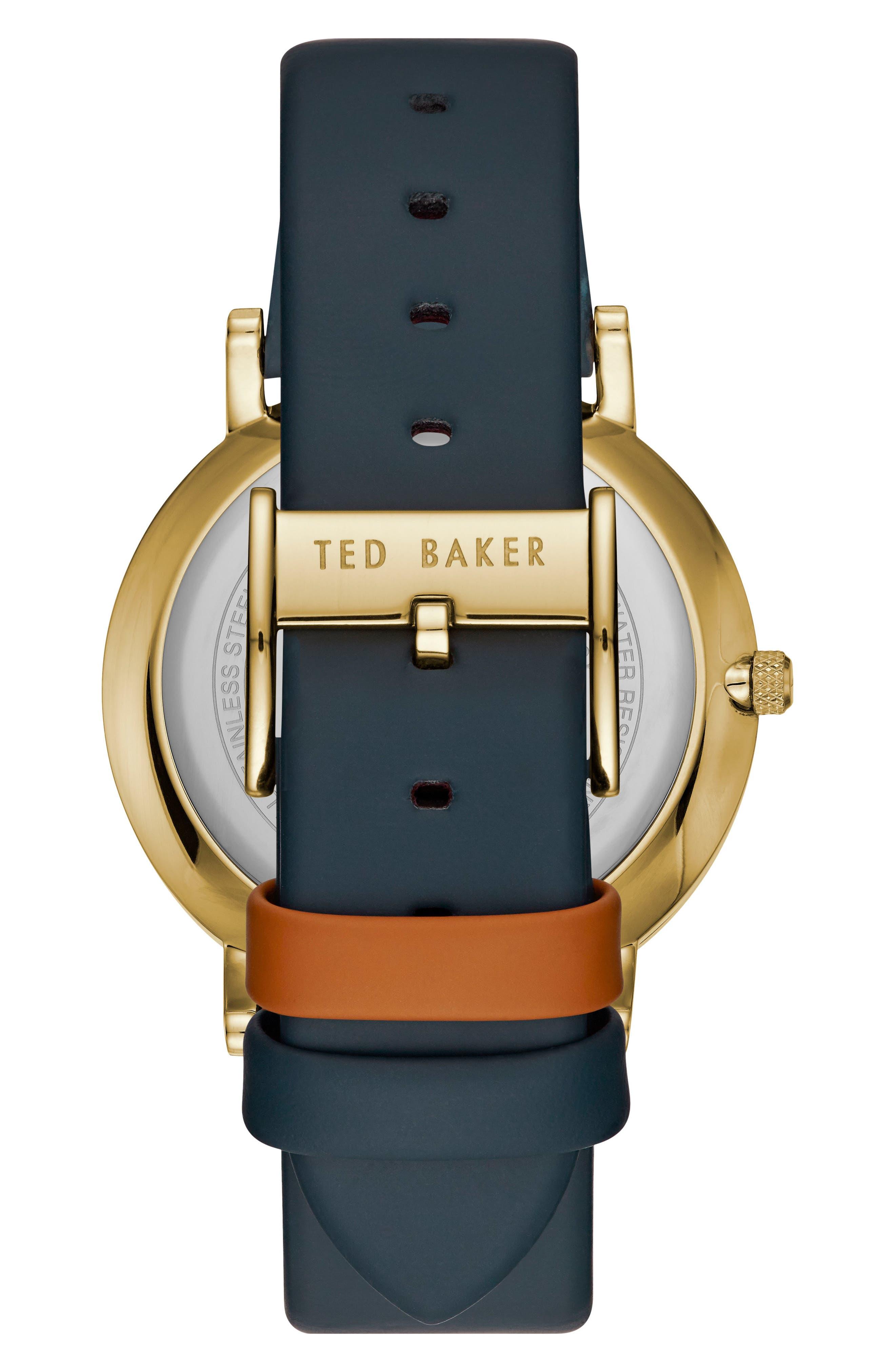 Samuel Slim Leather Strap Watch, 40mm,                             Alternate thumbnail 2, color,                             Blue/ Light Grey