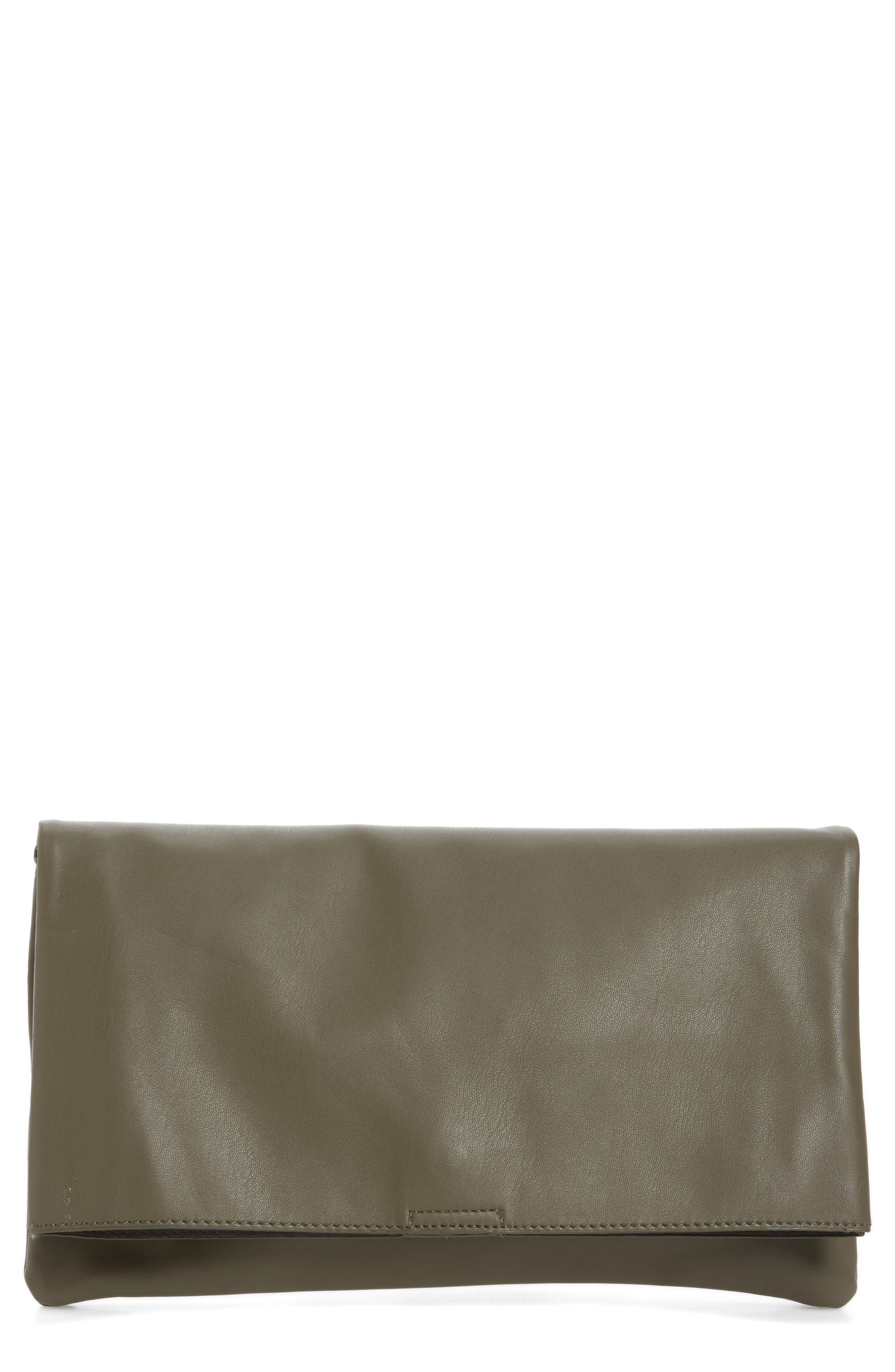 Main Image - Sole Society Melrose Faux Leather Clutch