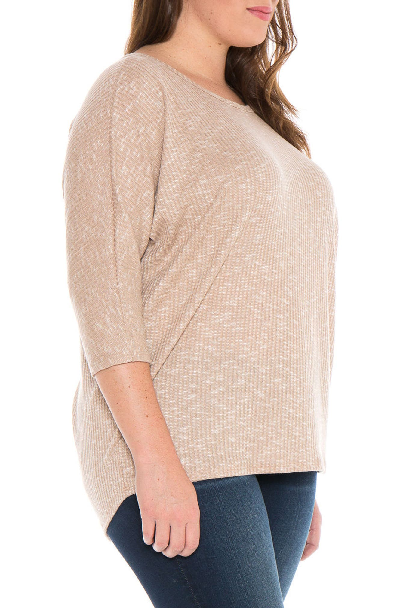 Alternate Image 3  - SLINK Jeans Marble Knit Dolman Top (Plus Size)