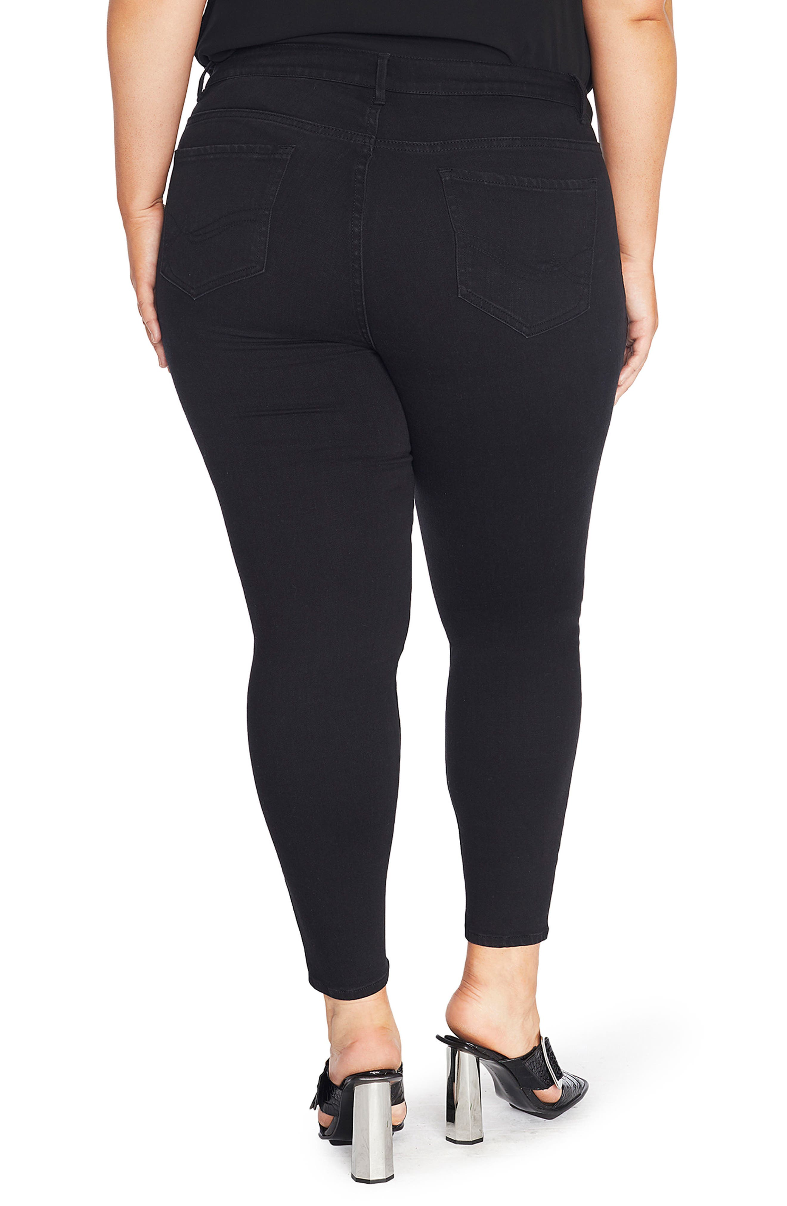 Alternate Image 2  - REBEL WILSON X ANGELS The Pin Up Super Skinny Jeans (Plus Size)