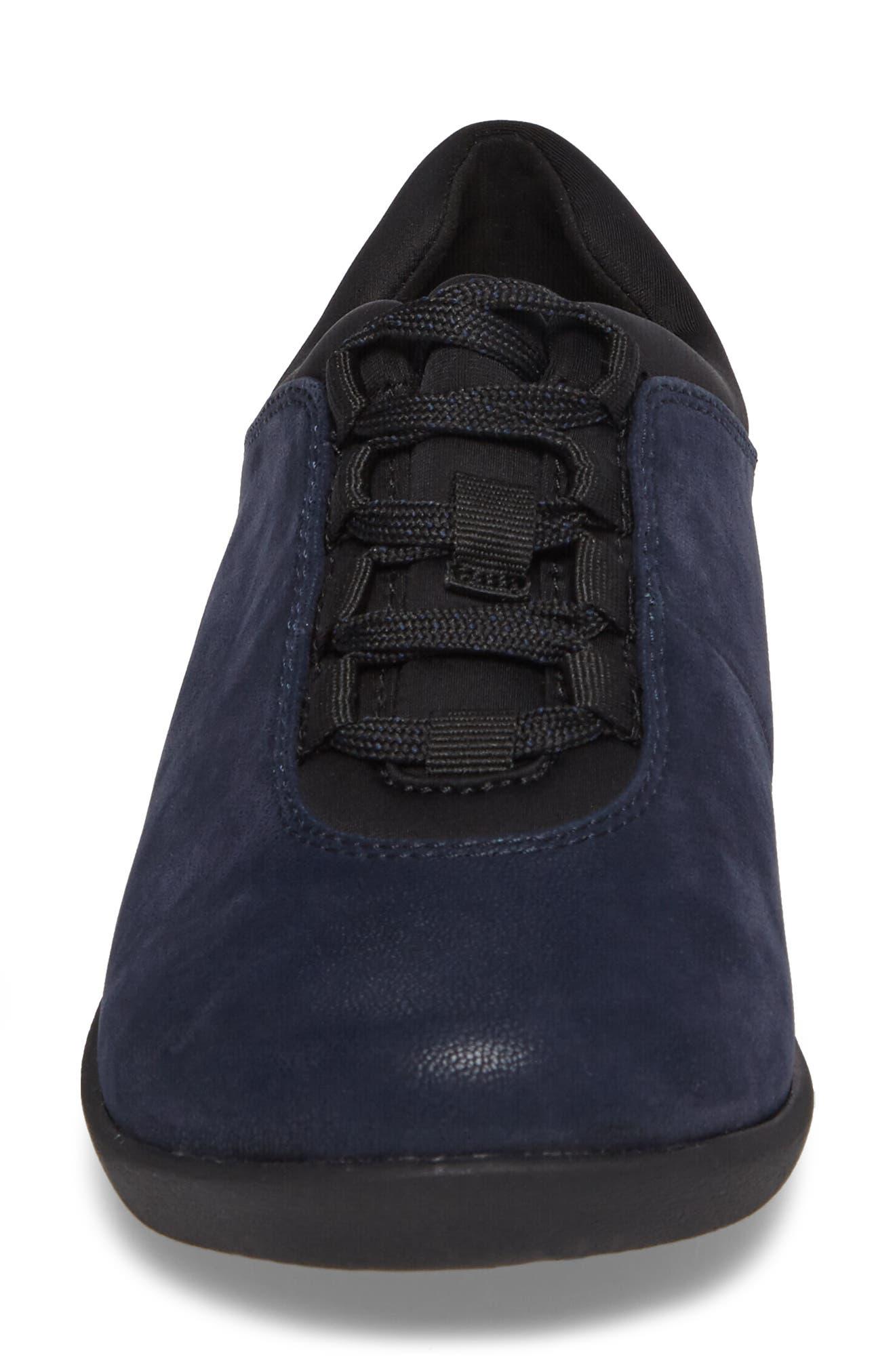 Sillian Pine Sneaker,                             Alternate thumbnail 4, color,                             Navy Canvas