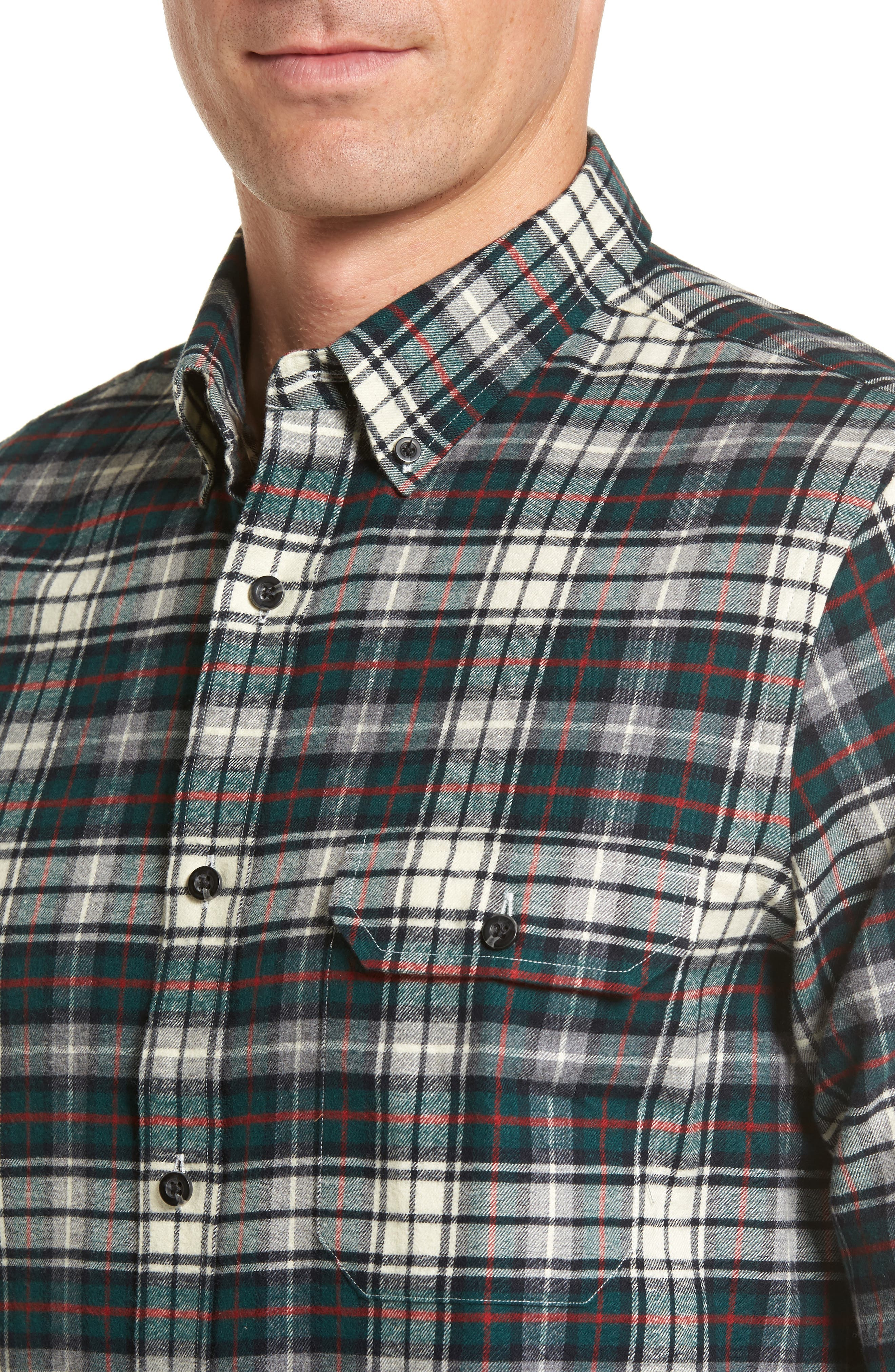 Alternate Image 5  - Nordstrom Men's Shop Regular Fit Plaid Sport Shirt