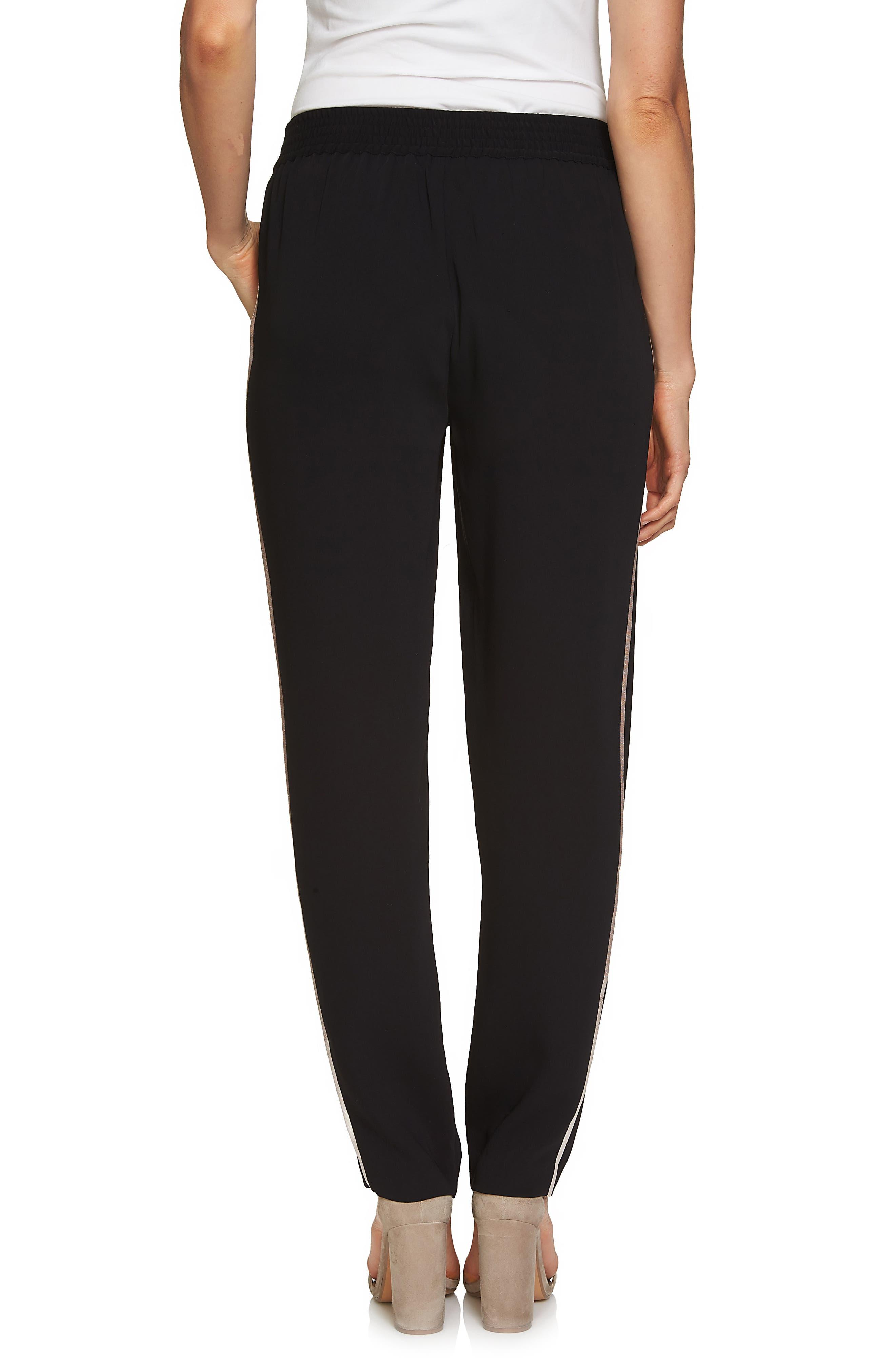 Metallic Stripe Pants,                             Alternate thumbnail 2, color,                             Rich Black