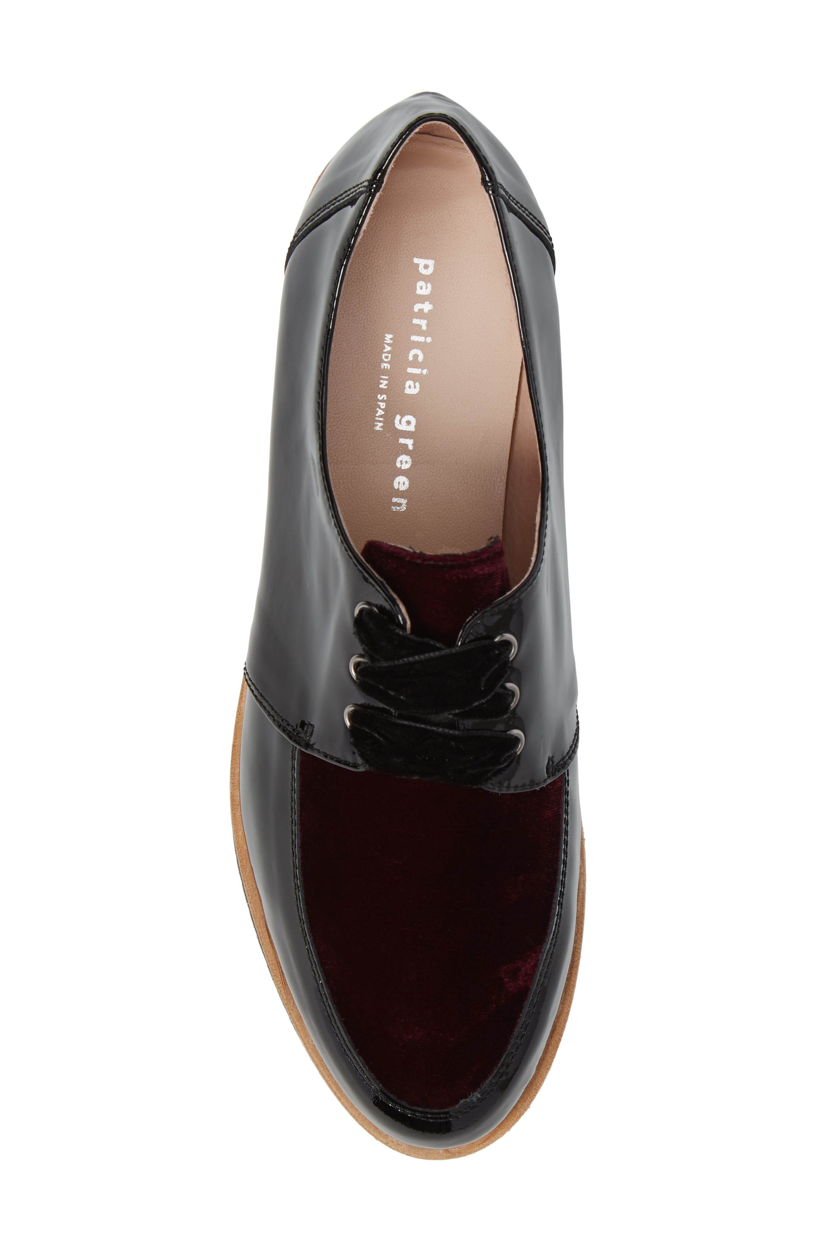 Reese Platform Oxford,                             Alternate thumbnail 5, color,                             Burgundy Patent