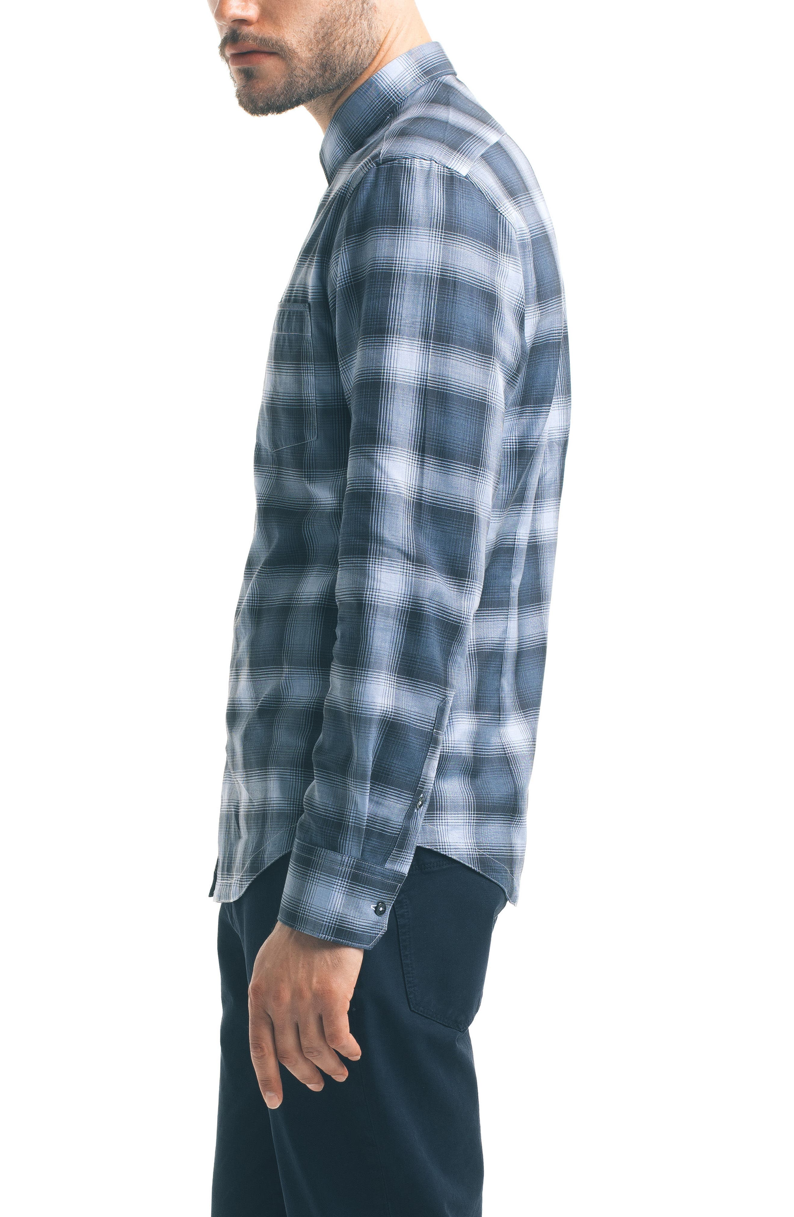 Alternate Image 3  - Good Man Brand Slim Fit Plaid Sport Shirt