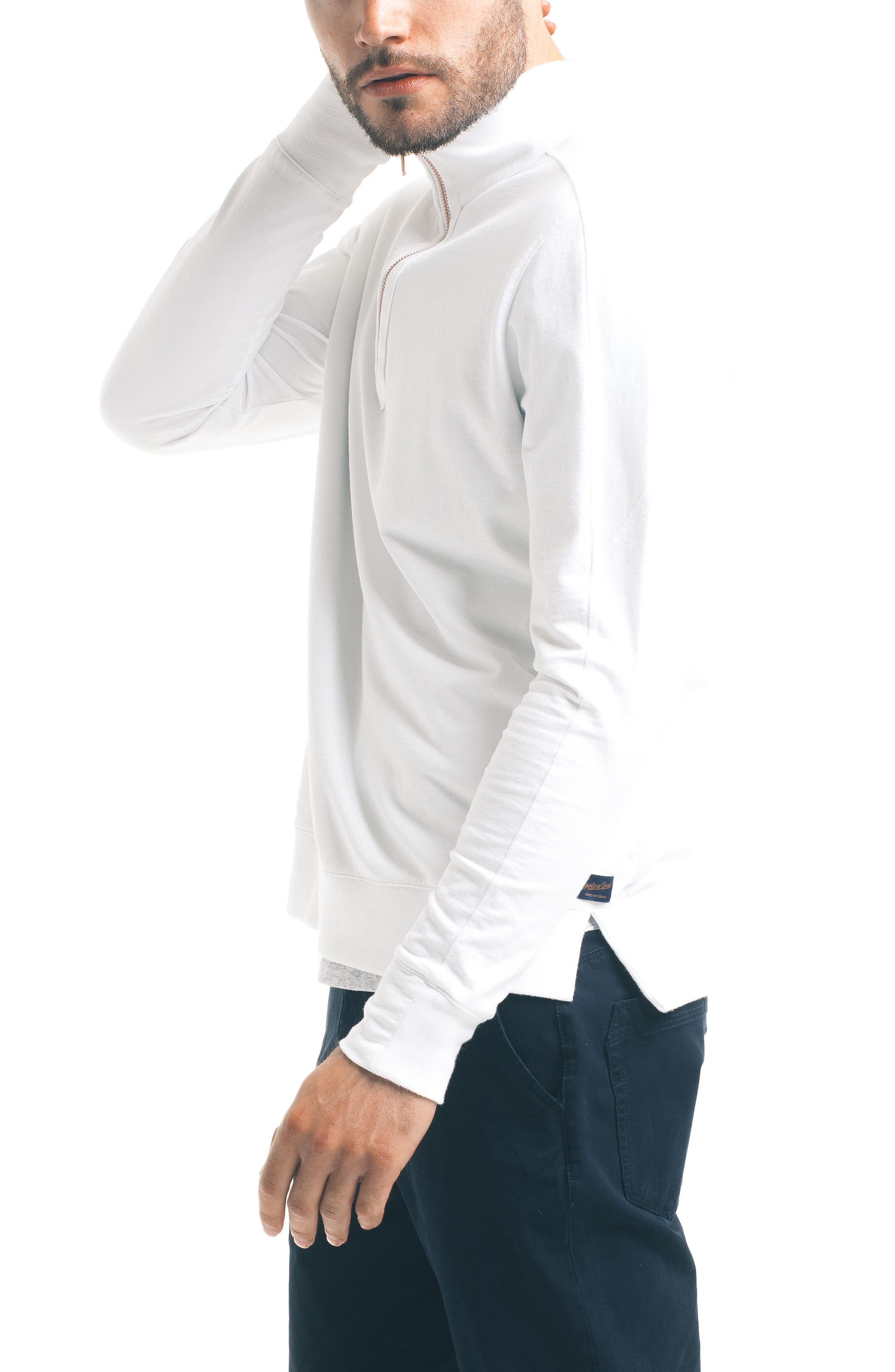 Slim Pro Quarter Zip Pullover,                             Alternate thumbnail 3, color,                             White