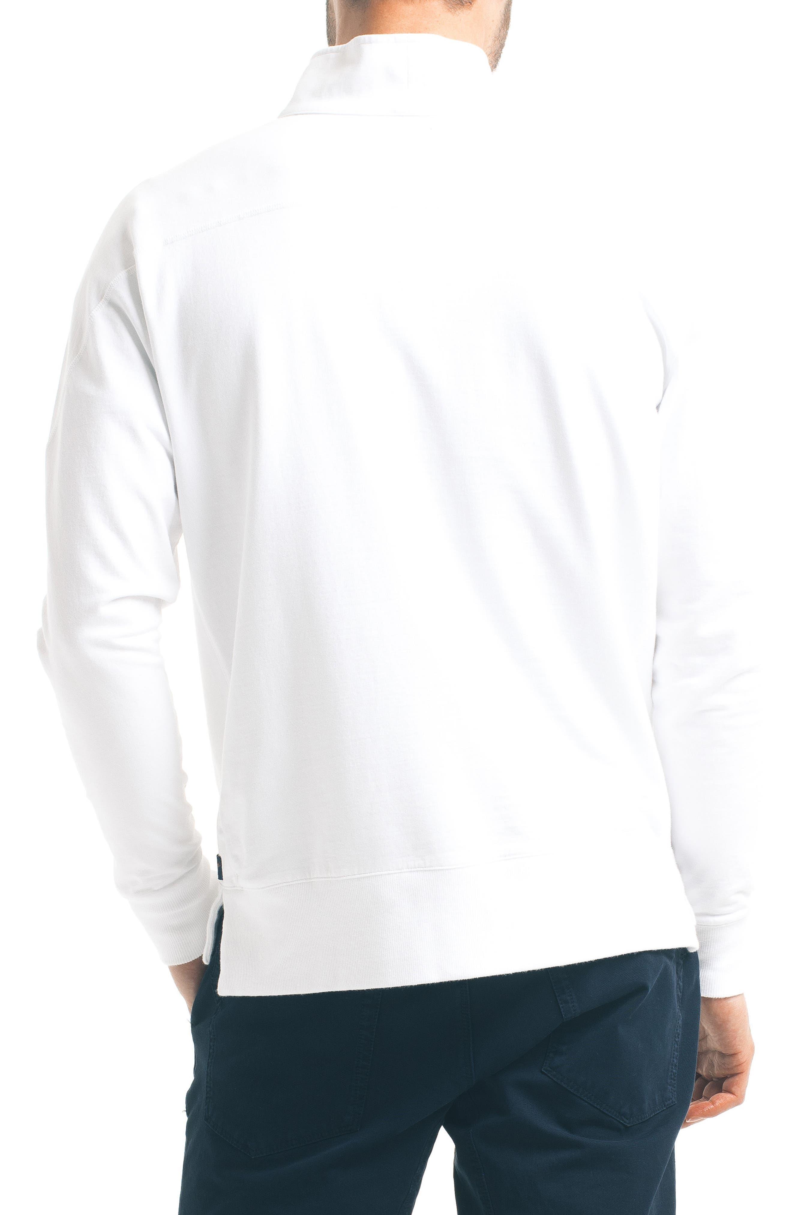 Slim Pro Quarter Zip Pullover,                             Alternate thumbnail 2, color,                             White