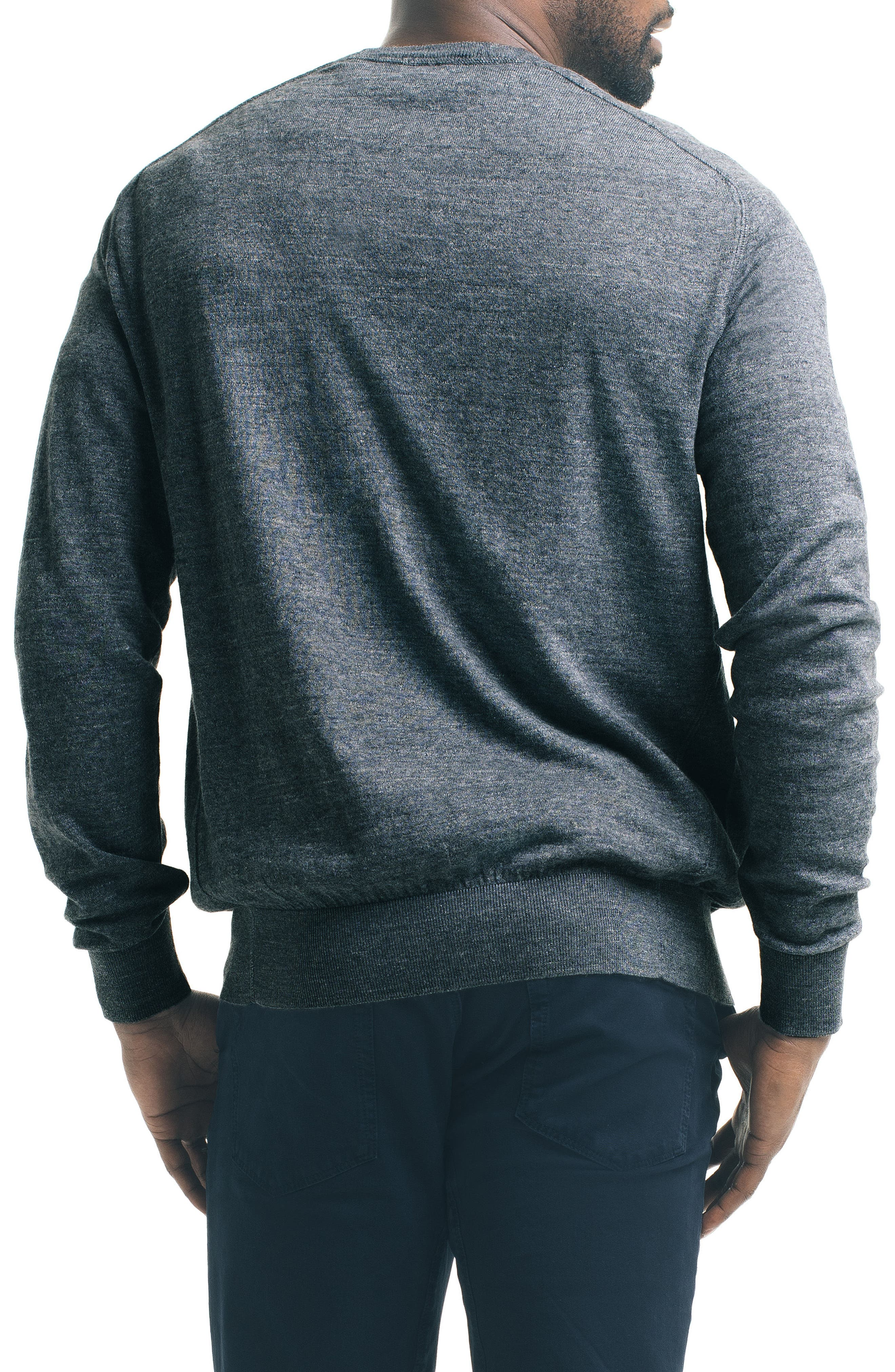 Slub Pullover Sweater,                             Alternate thumbnail 2, color,                             Charcoal