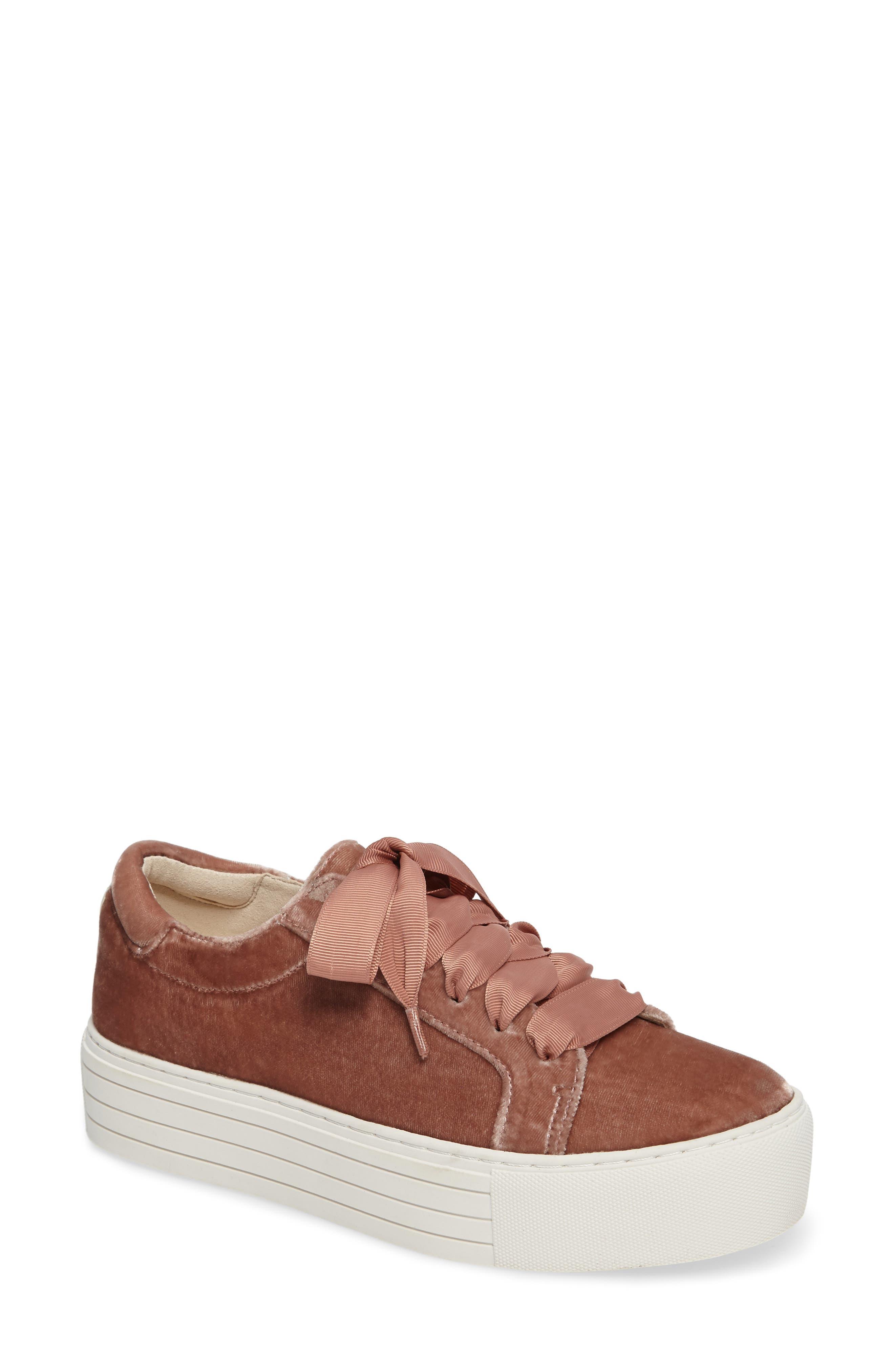 Abbey Platform Sneaker,                         Main,                         color, Blush Velvet