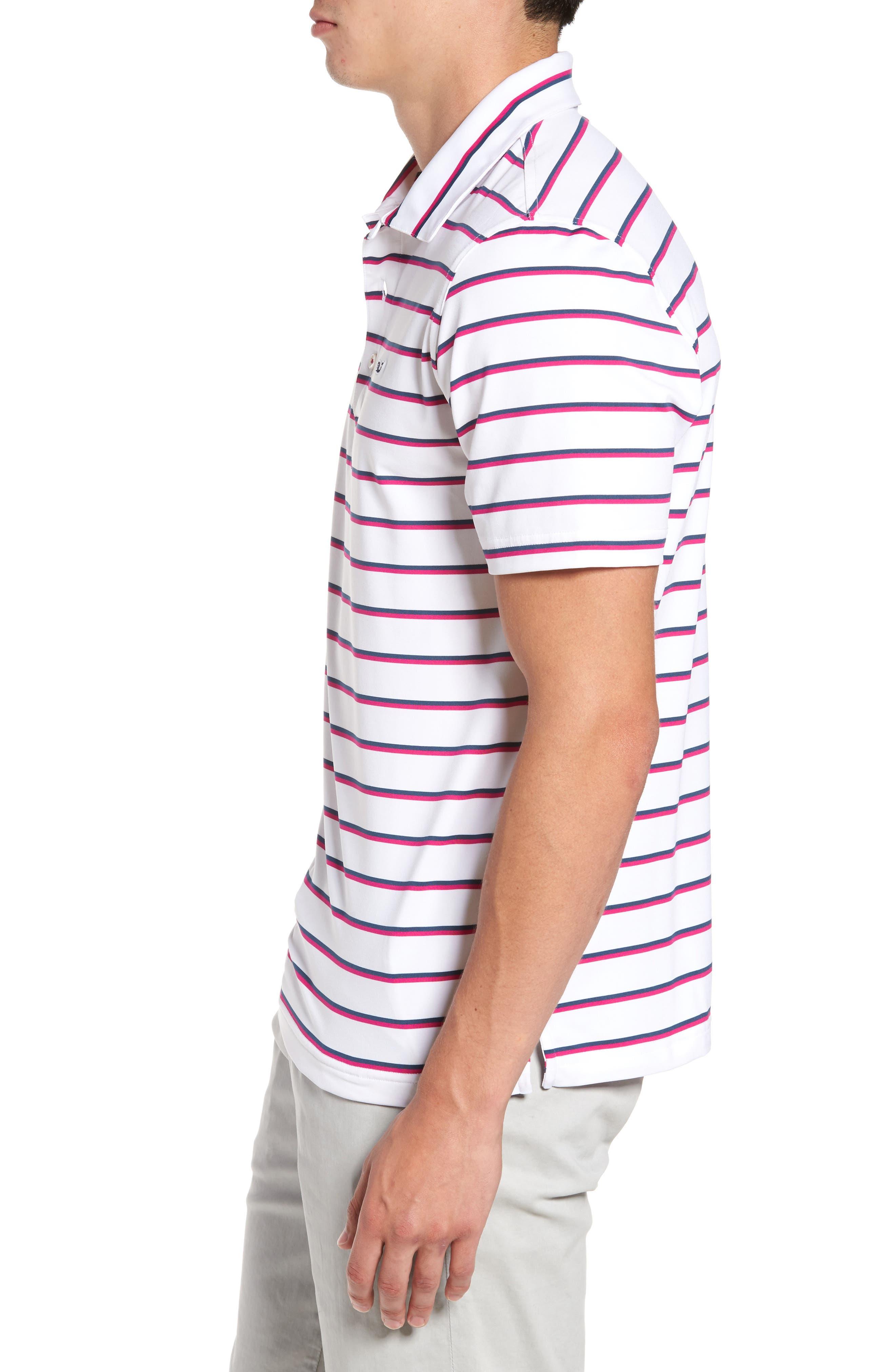 Eshman Stripe Polo,                             Alternate thumbnail 3, color,                             White Cap