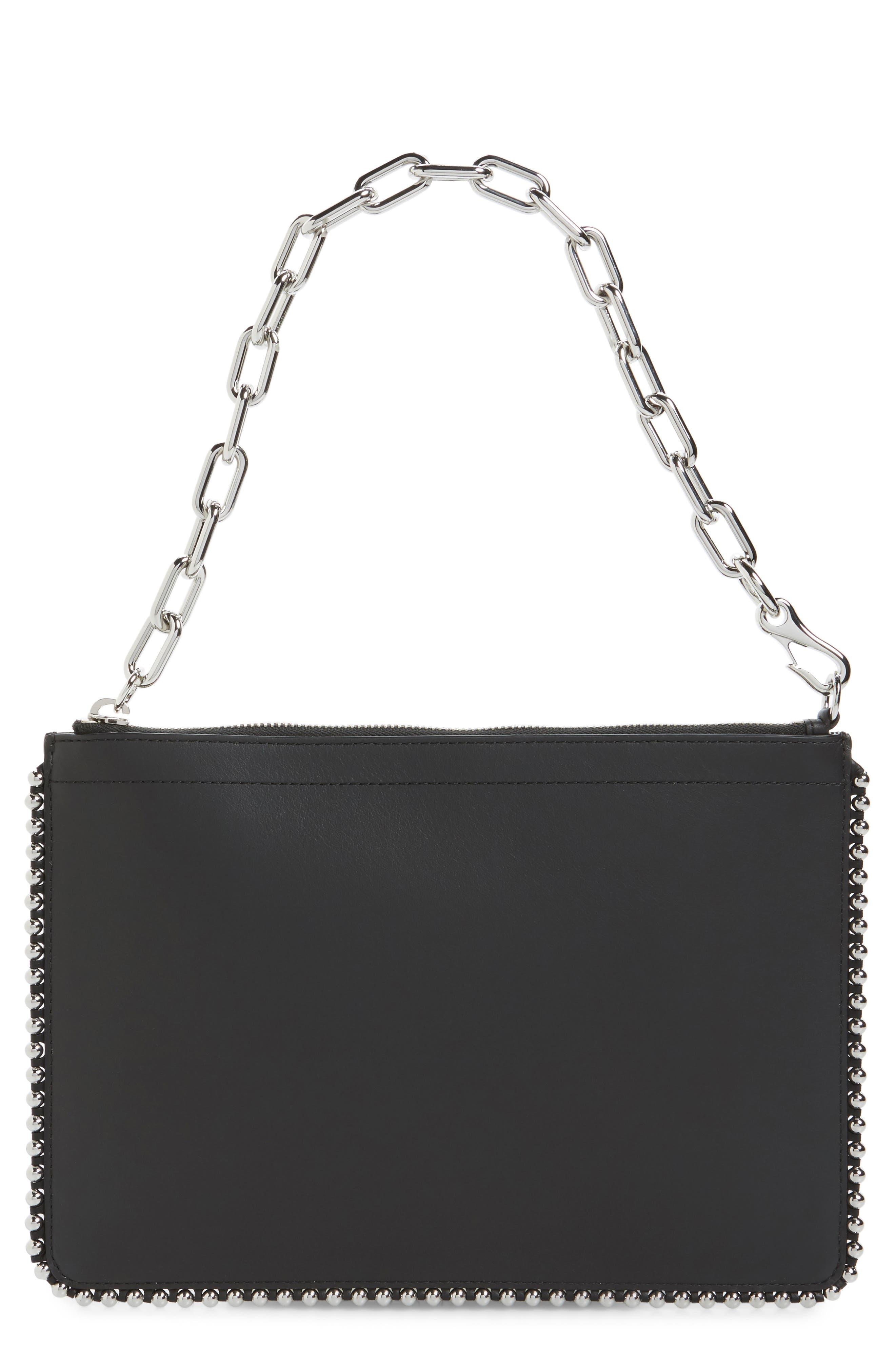 Attica Leather Pouch,                         Main,                         color, Black