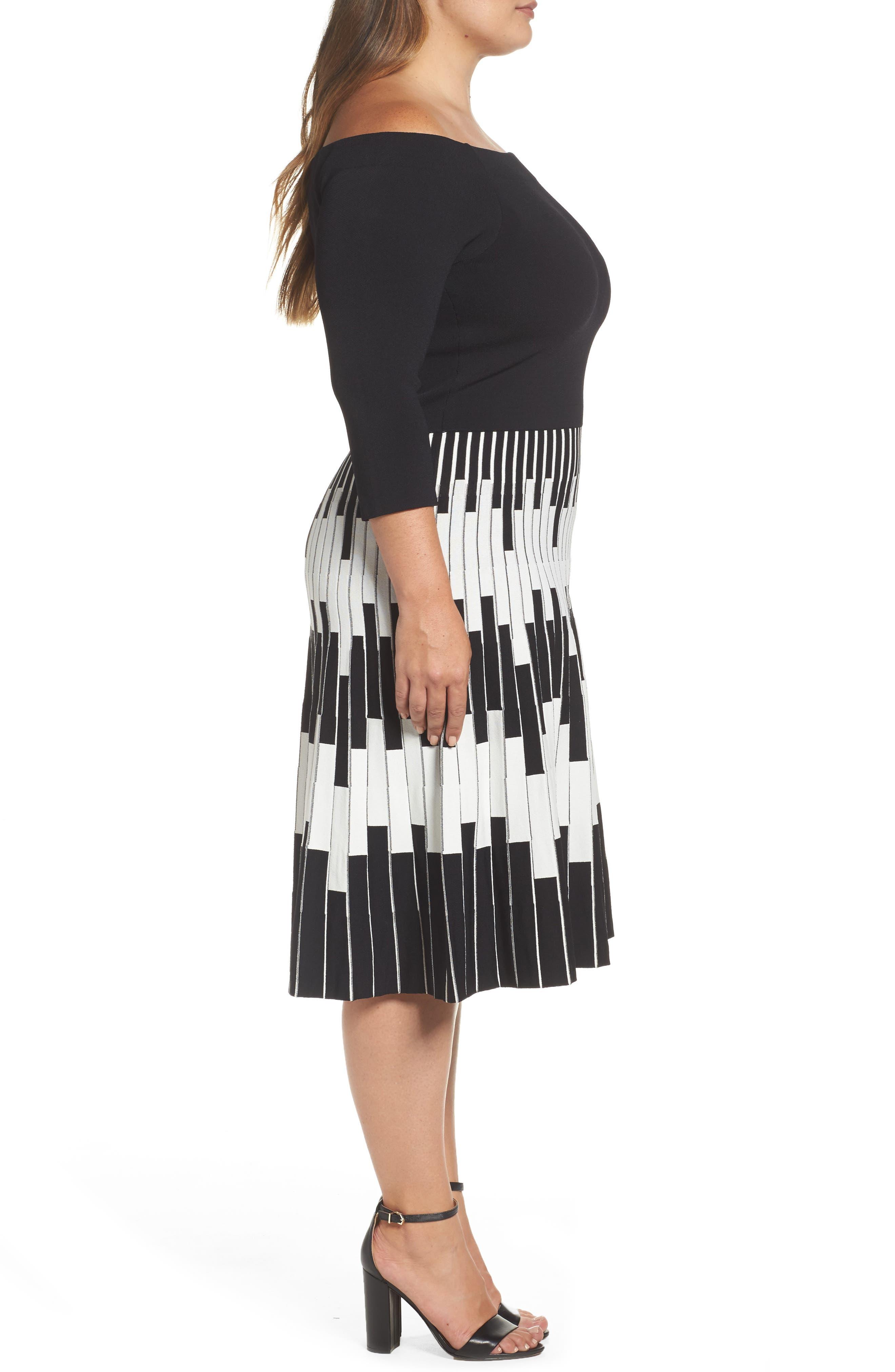Alternate Image 3  - Eliza J Knit Fit & Flare Dress (Plus Size)