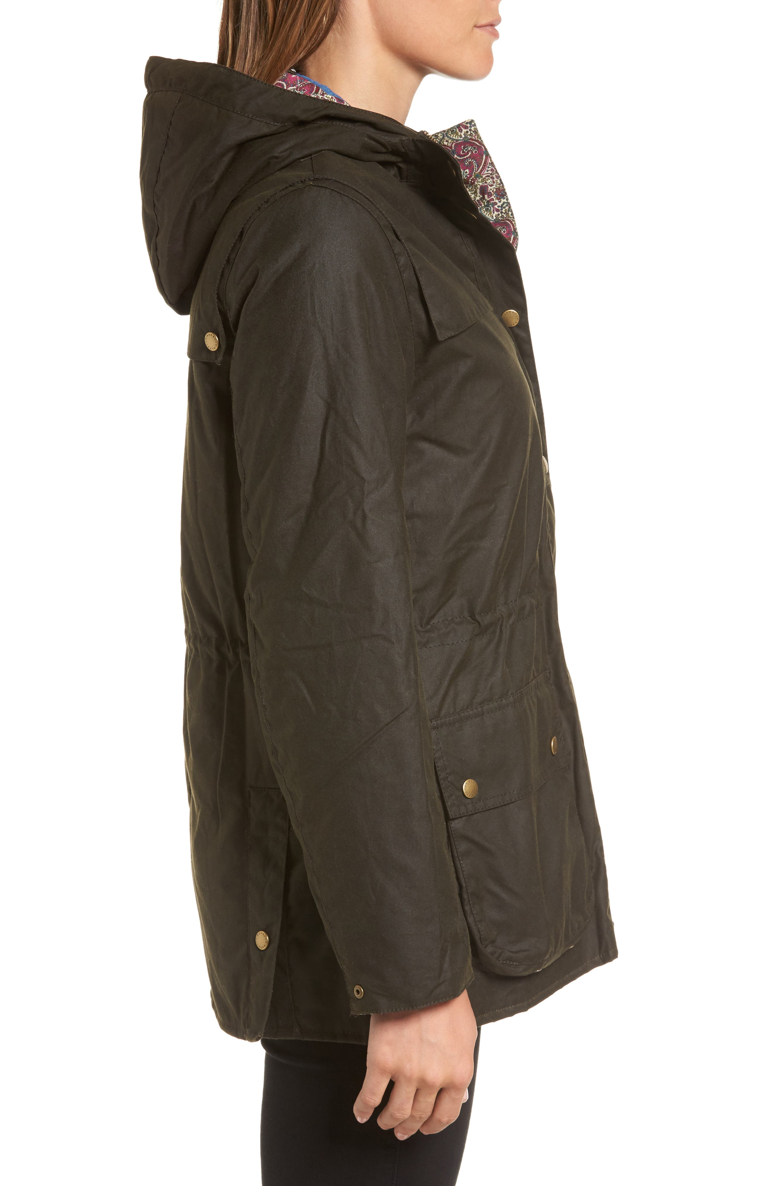 Alternate Image 3  - Barbour x Liberty Blaise Hooded Waxed Canvas Jacket