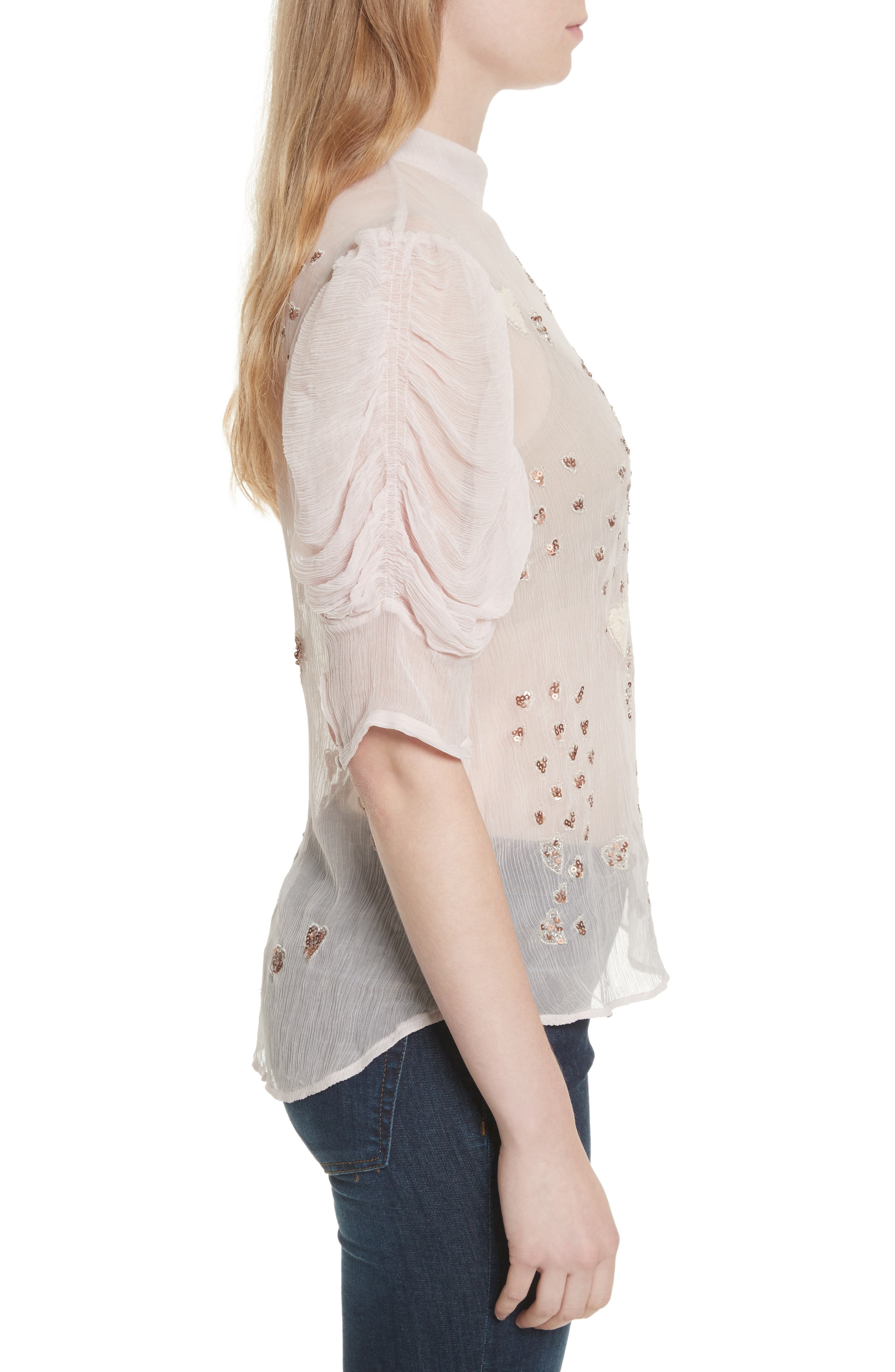 Alternate Image 3  - Free People So in Love Embroidered Blouse