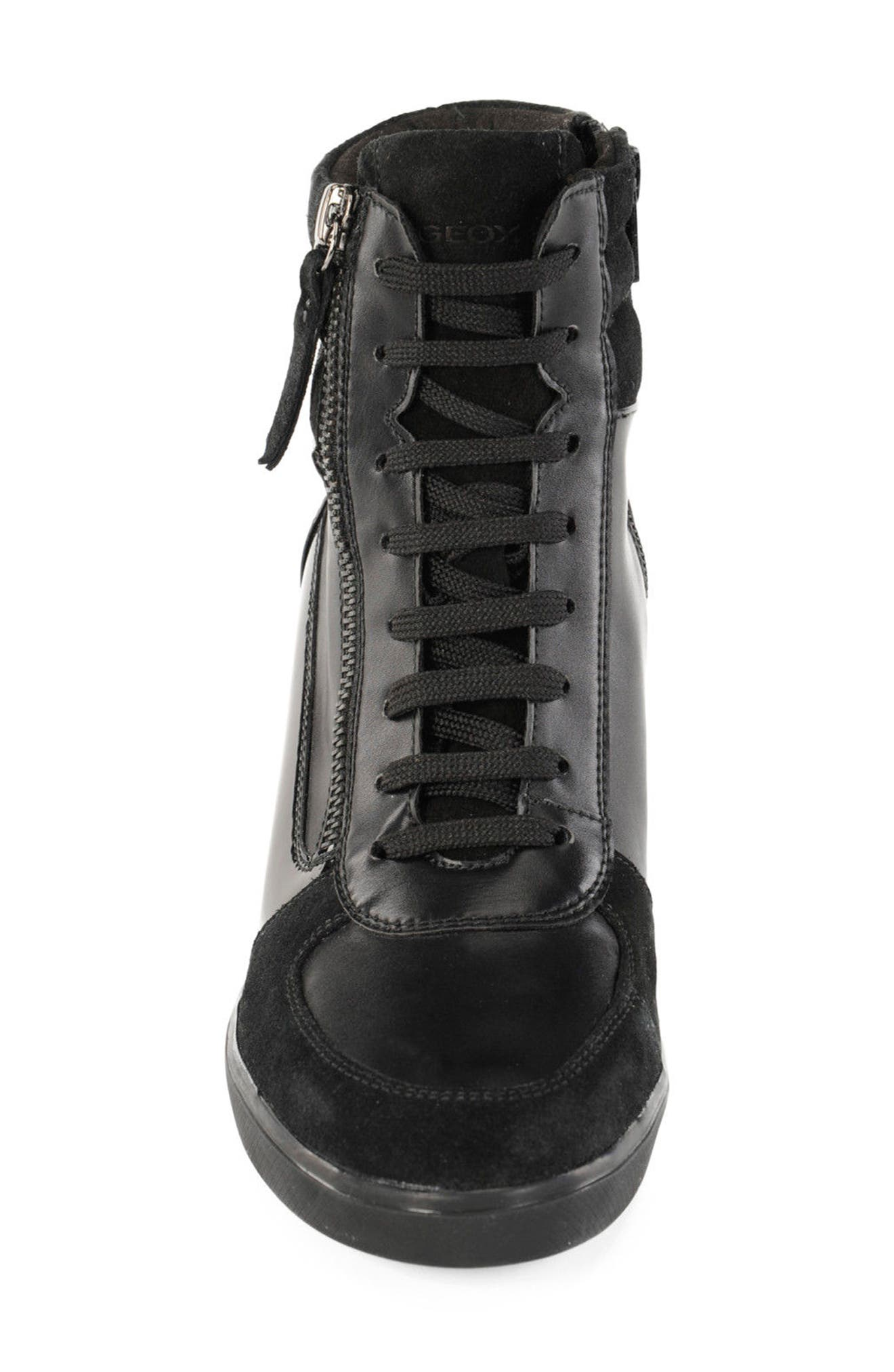 Alternate Image 4  - Geox Eleni Lace-Up Wedge Bootie (Women)