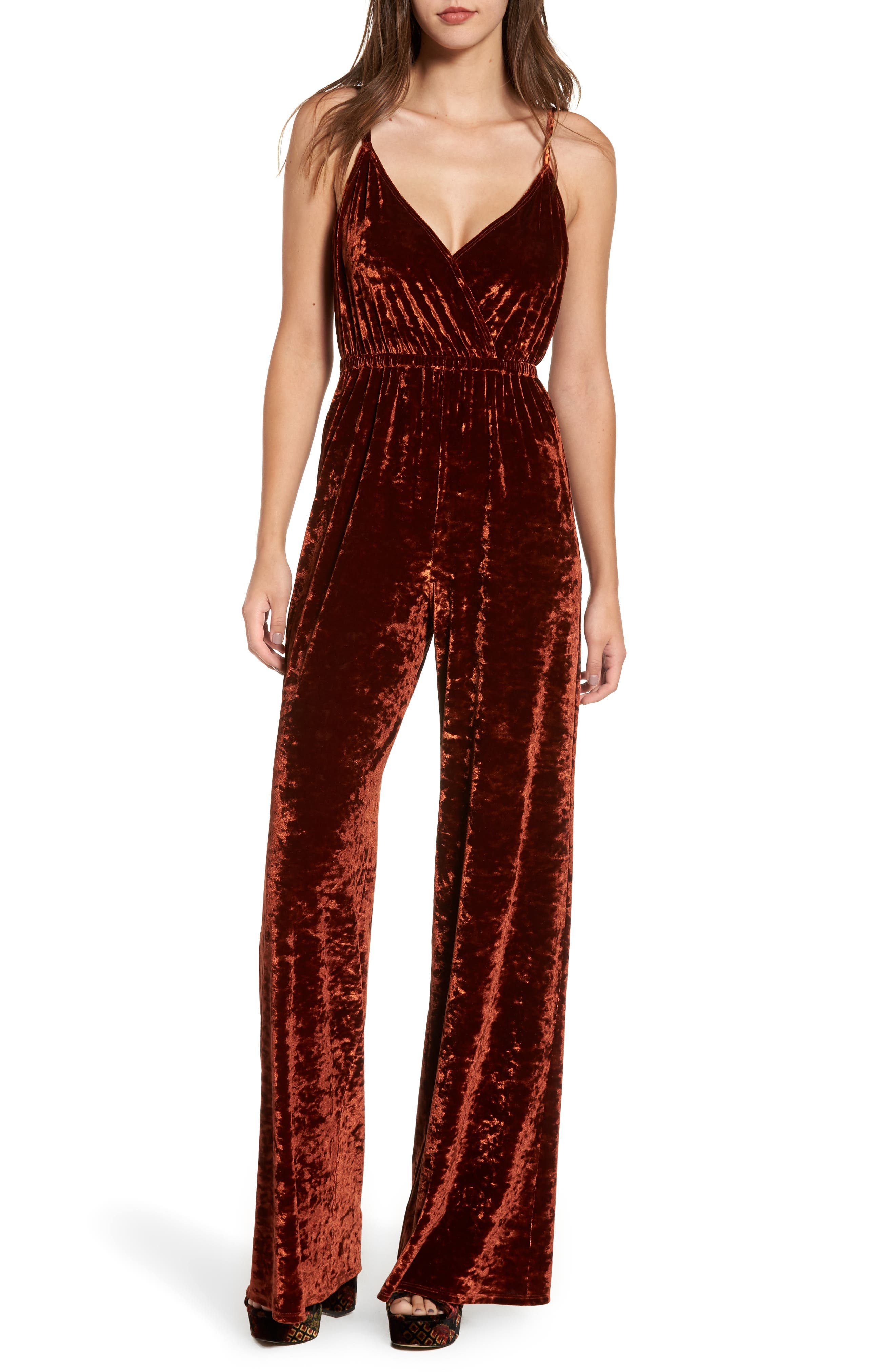 Show Me Your Mumu The Richards Velvet Jumpsuit