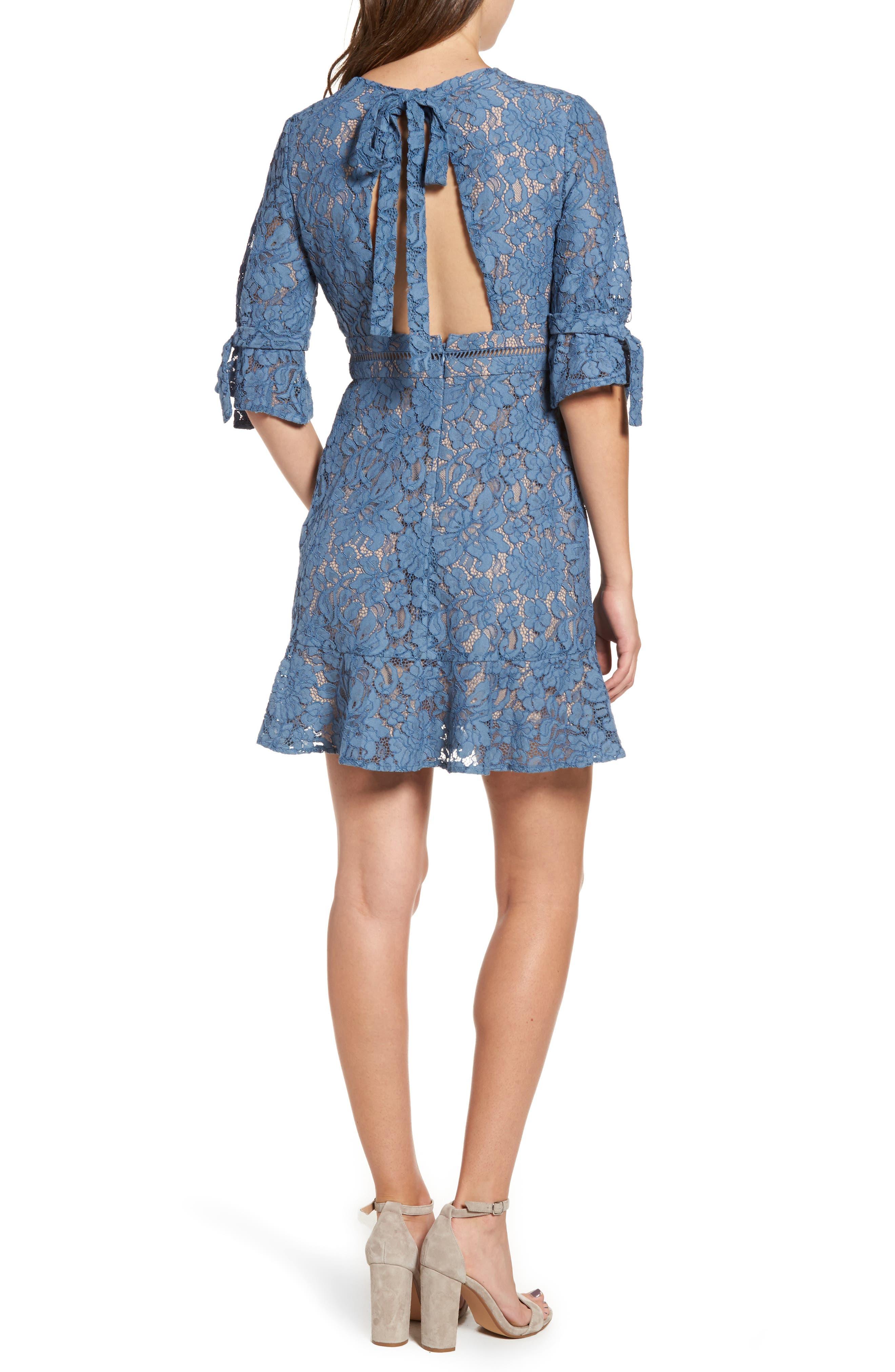 Alternate Image 2  - WAYF Rene Lace Fit & Flare Dress