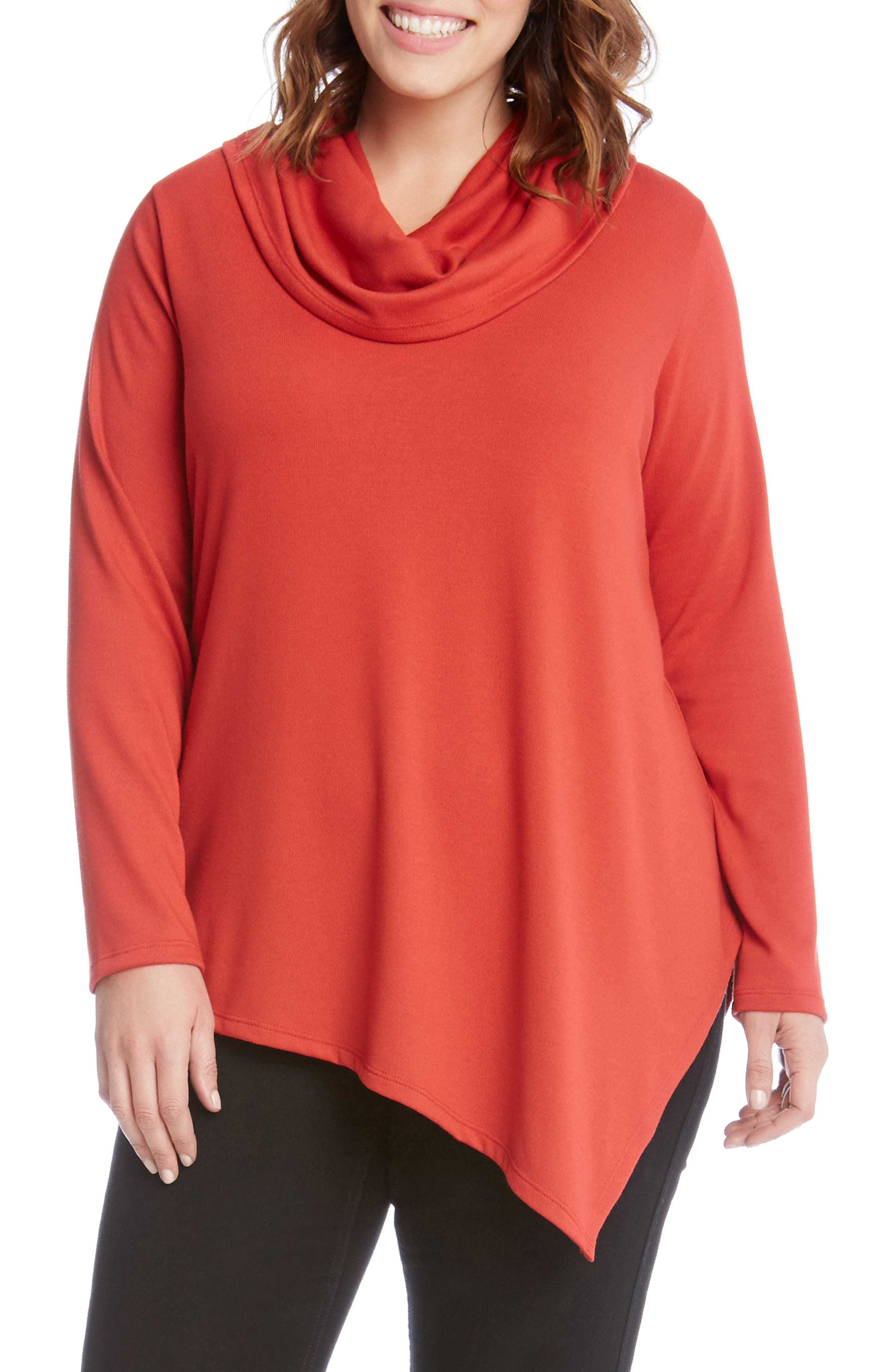 Karen Kane Asymmetrical Hem Sweater (Plus Size)