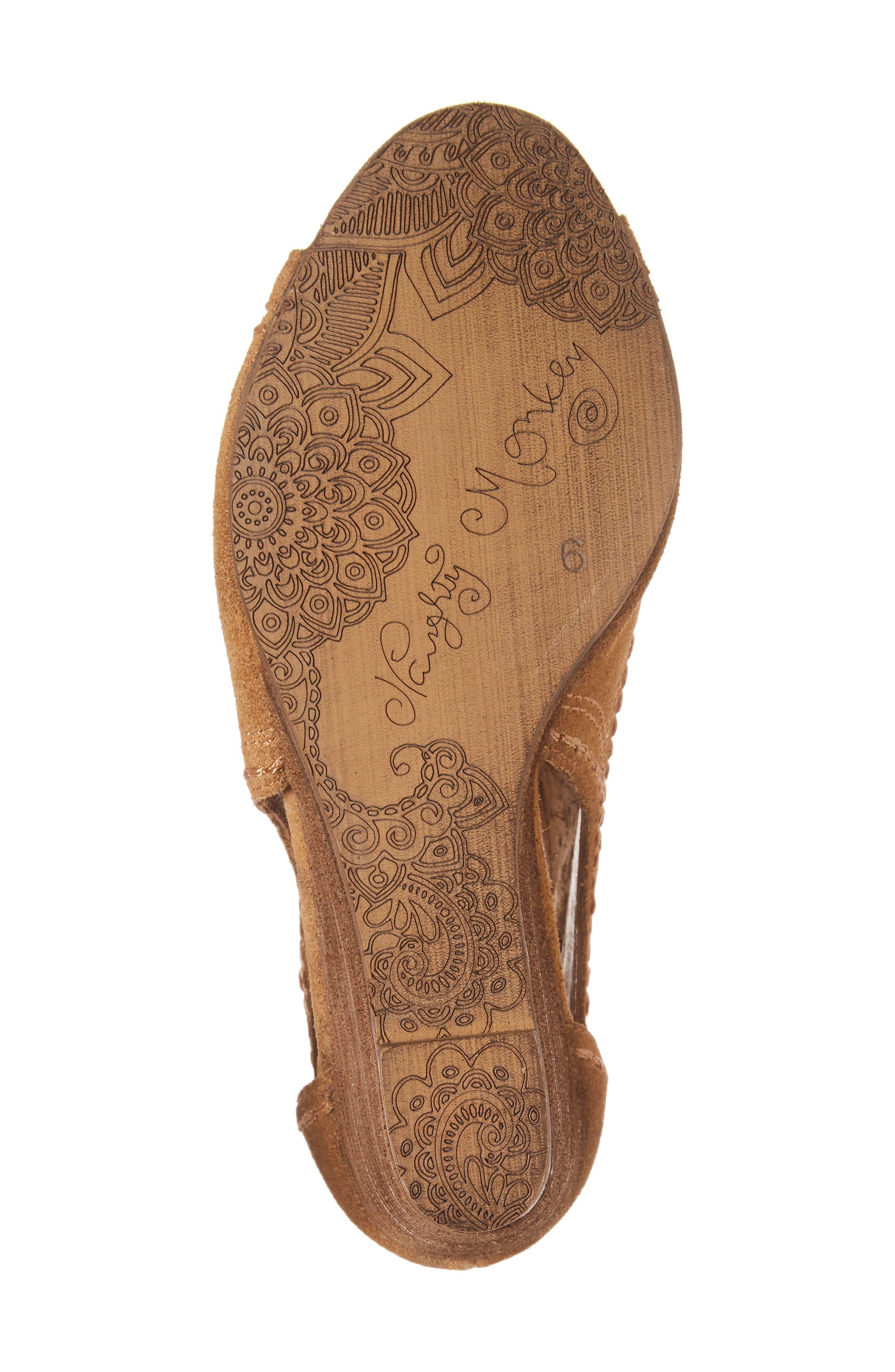 Alternate Image 6  - Naughty Monkey Sharon Perforated Wedge Sandal (Women)