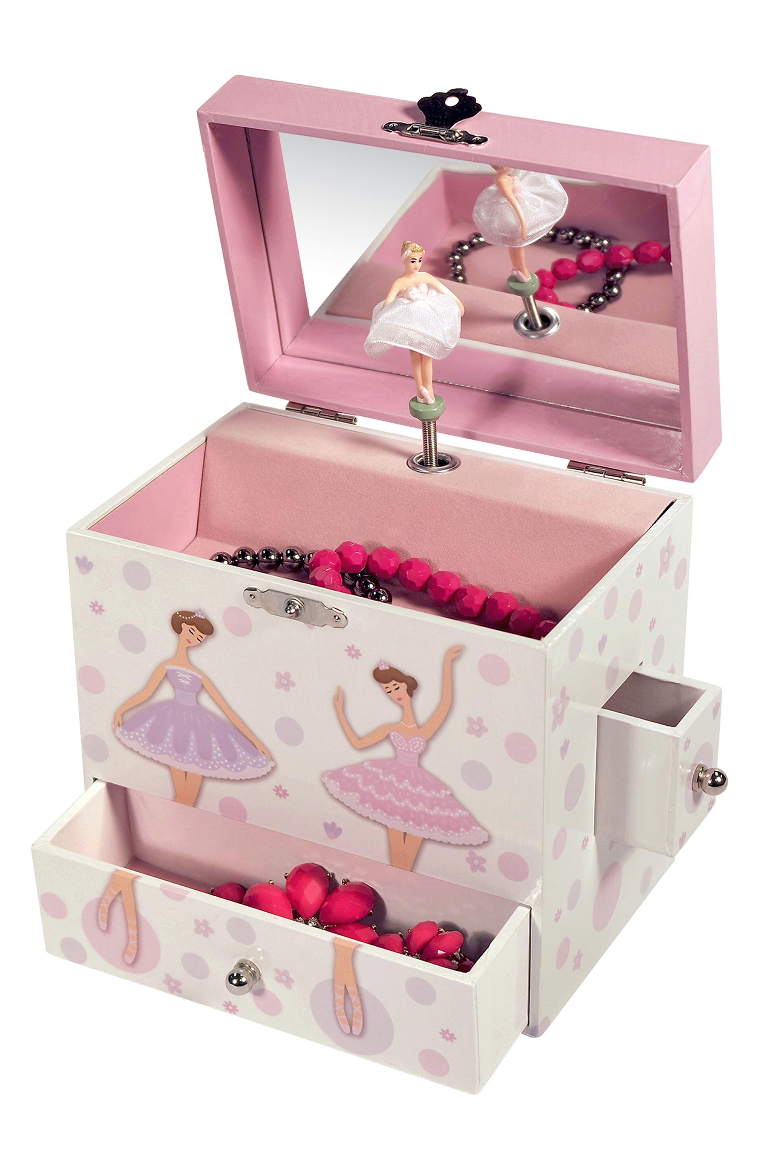 Jolie Musical Jewelry Box,                             Alternate thumbnail 4, color,                             White