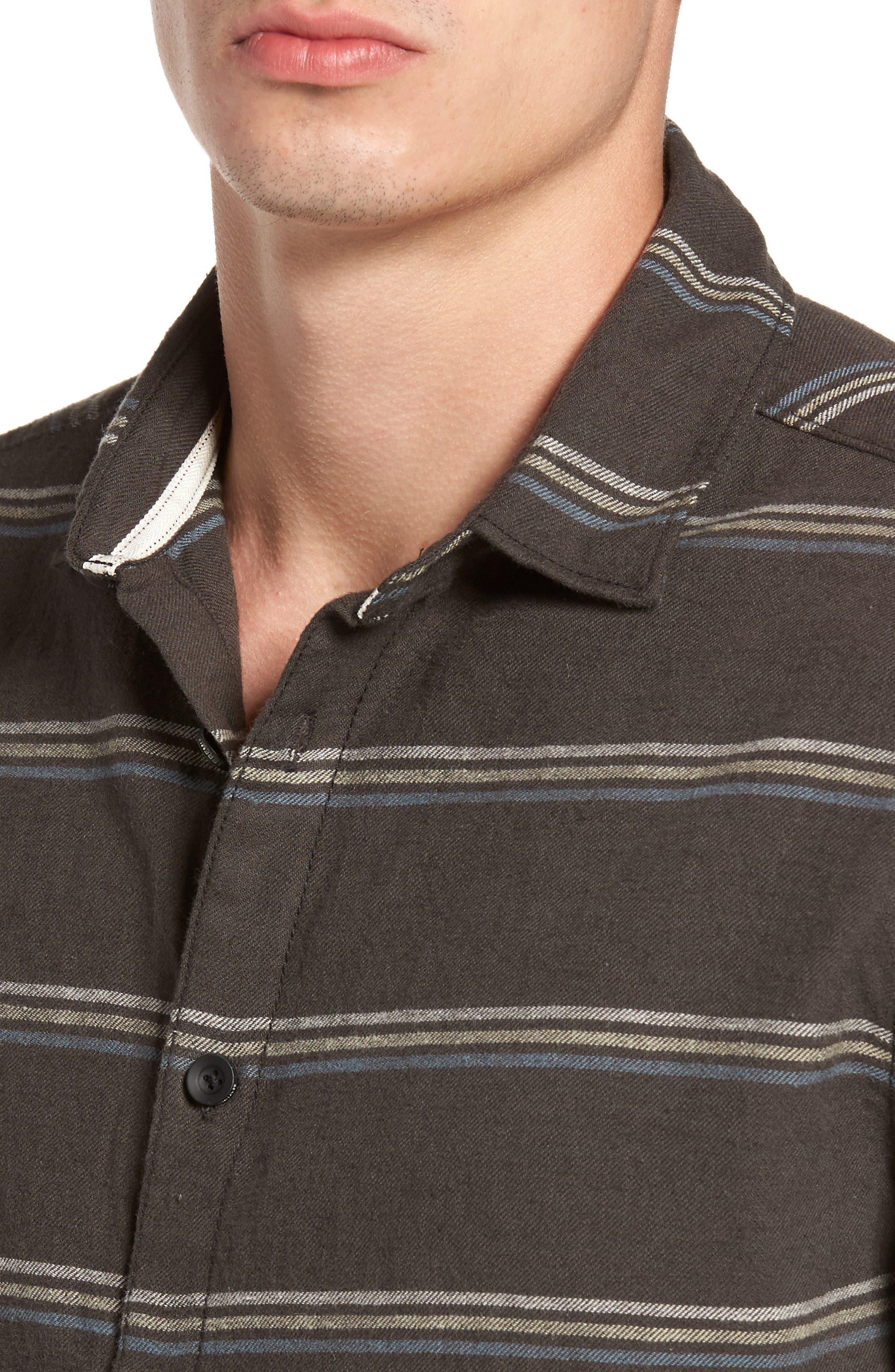 McKinley Stripe Shirt,                             Alternate thumbnail 4, color,                             Blackstone