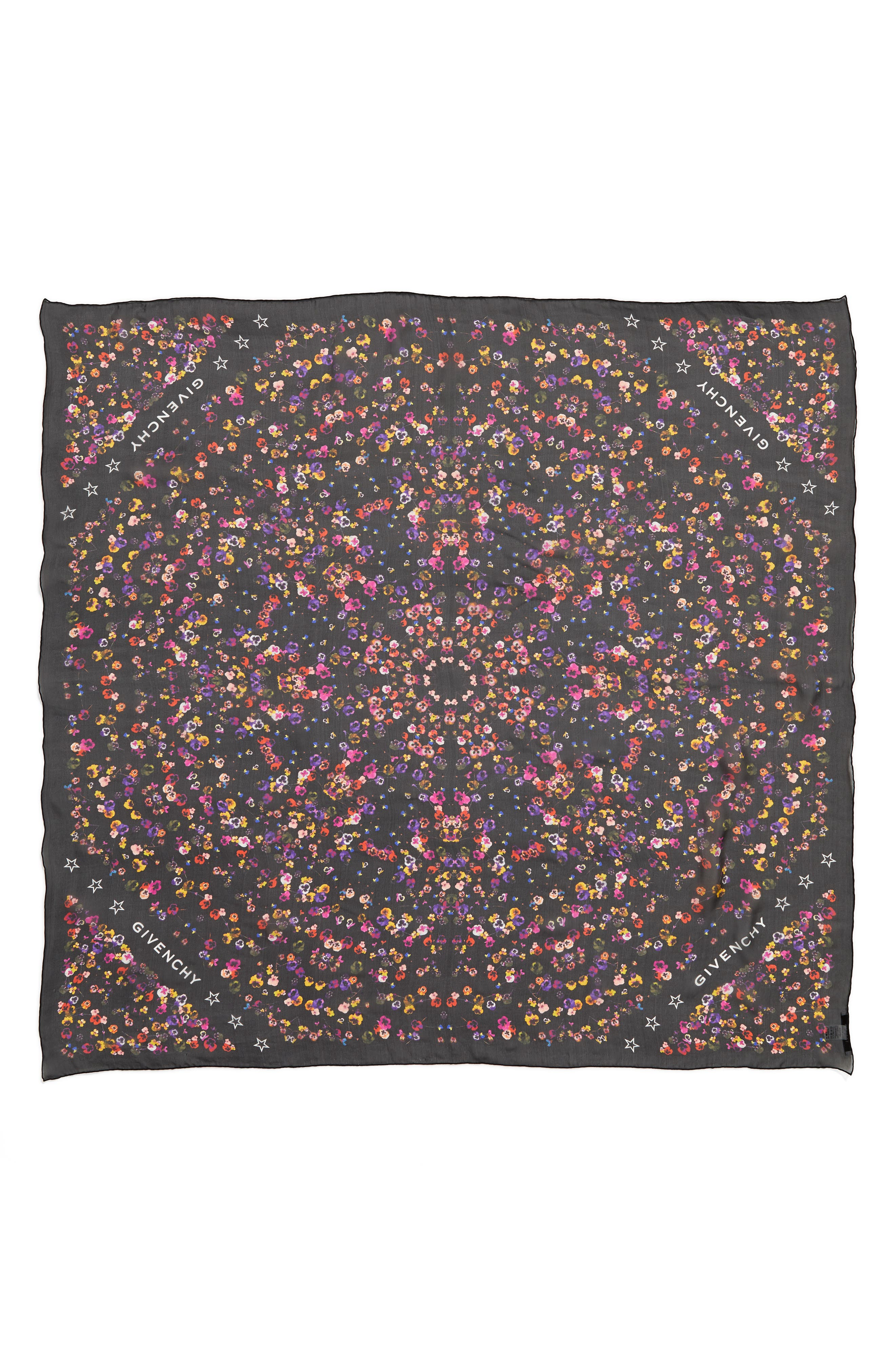GIVENCHY Wild Pansy Silk Scarf