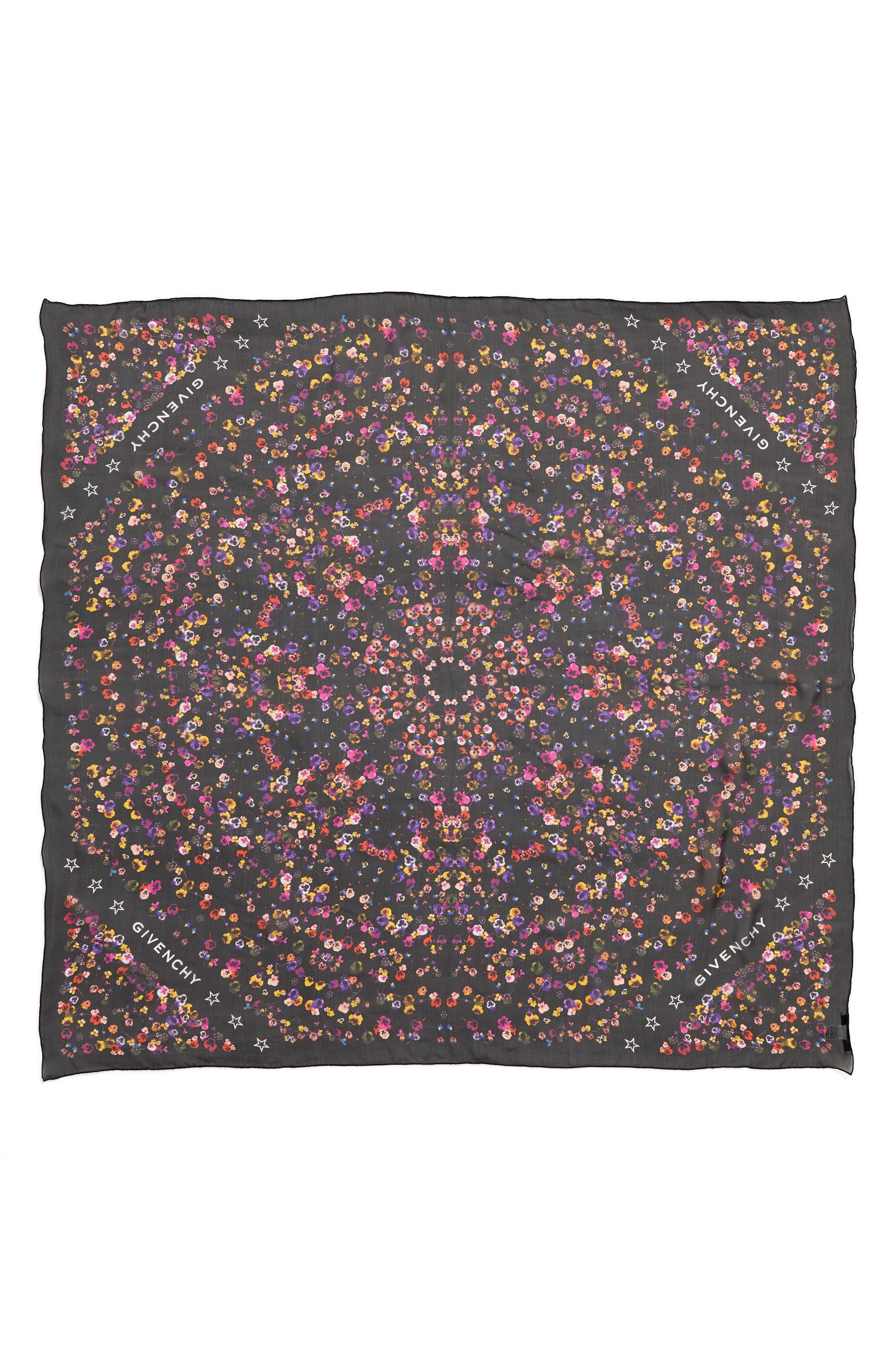 Wild Pansy Silk Scarf,                         Main,                         color, Original