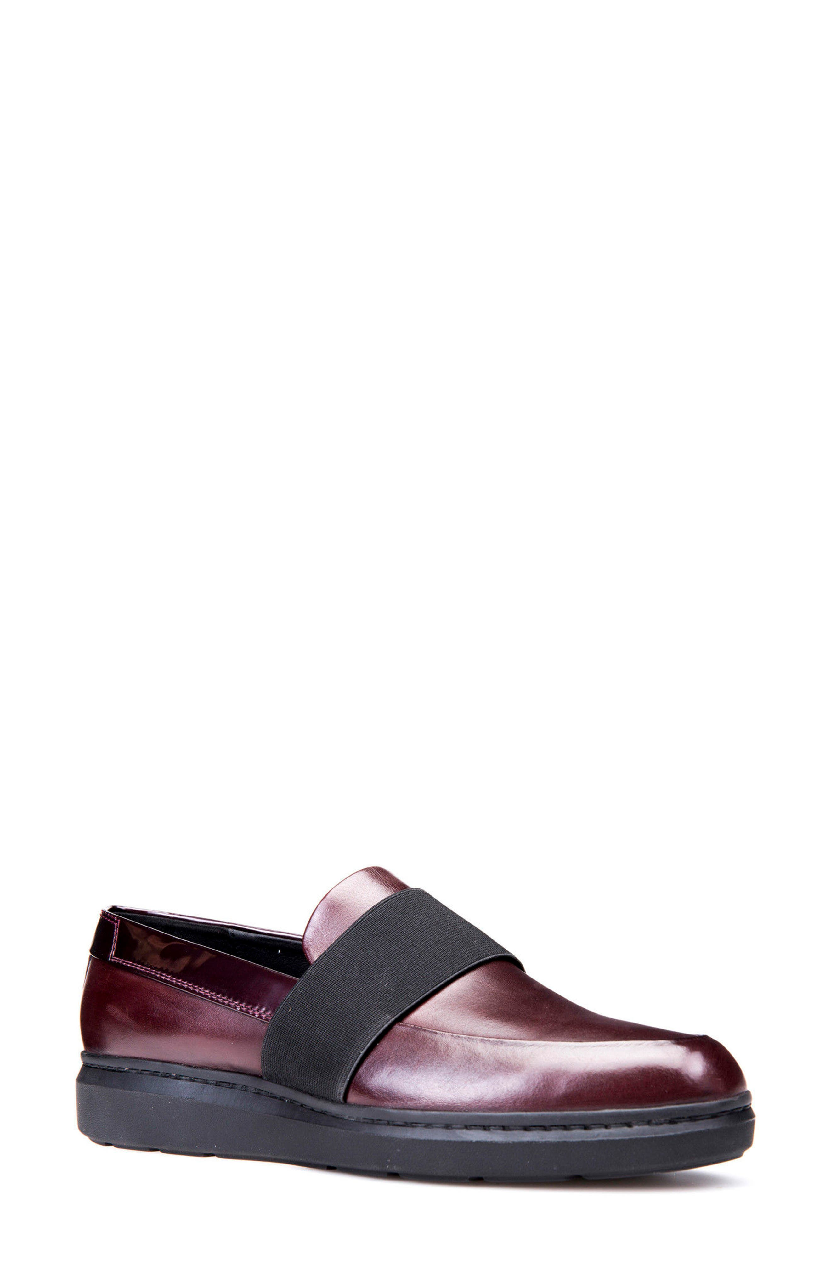 Jerrica Loafer,                         Main,                         color, Dark Burgundy Leather