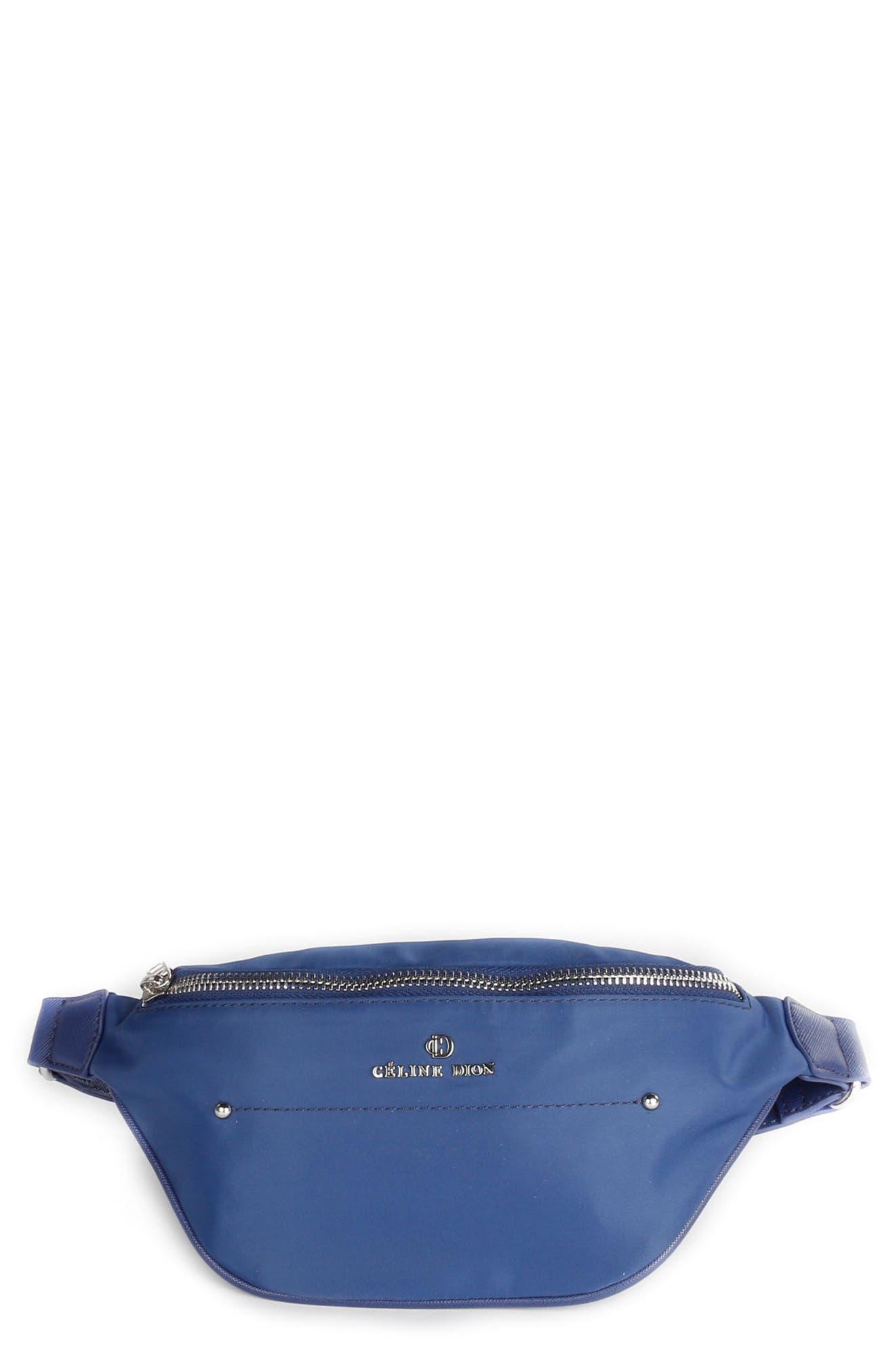Céline Dion Presto Nylon Money Belt,                         Main,                         color, Blue