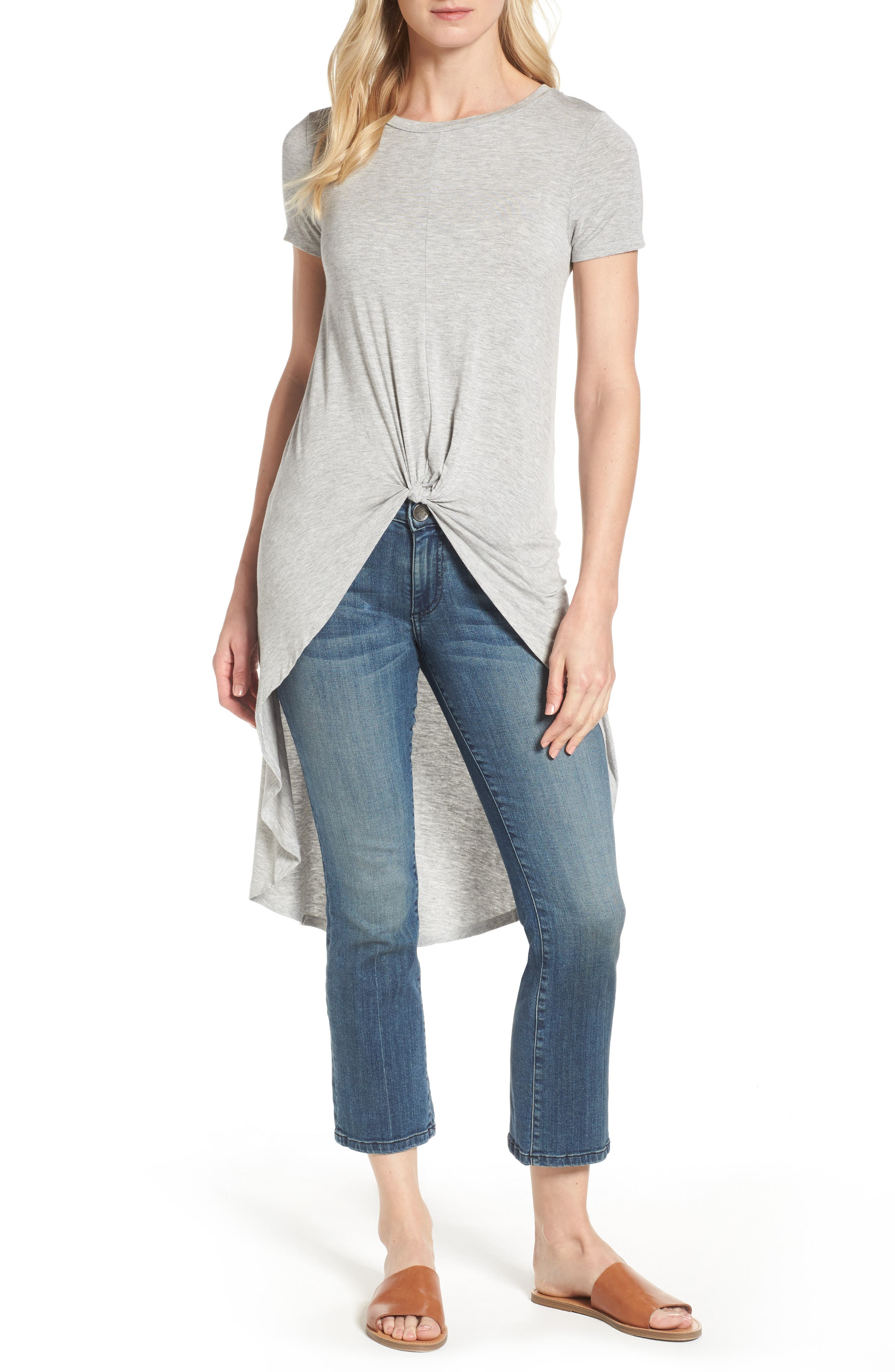Dex Knot Front High/Low Tee