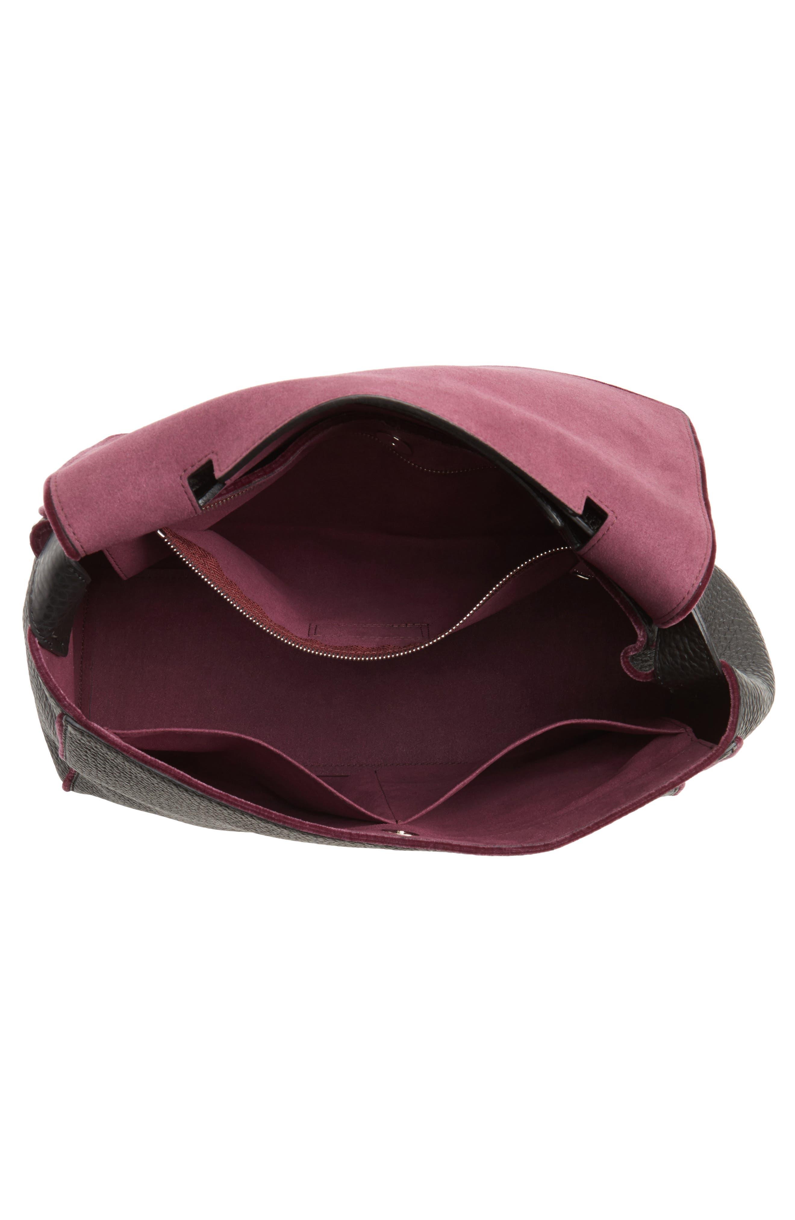 Alternate Image 3  - Orciani Large Sveva Soft Leather Top Handle Satchel with Genuine Fur Bag Charm