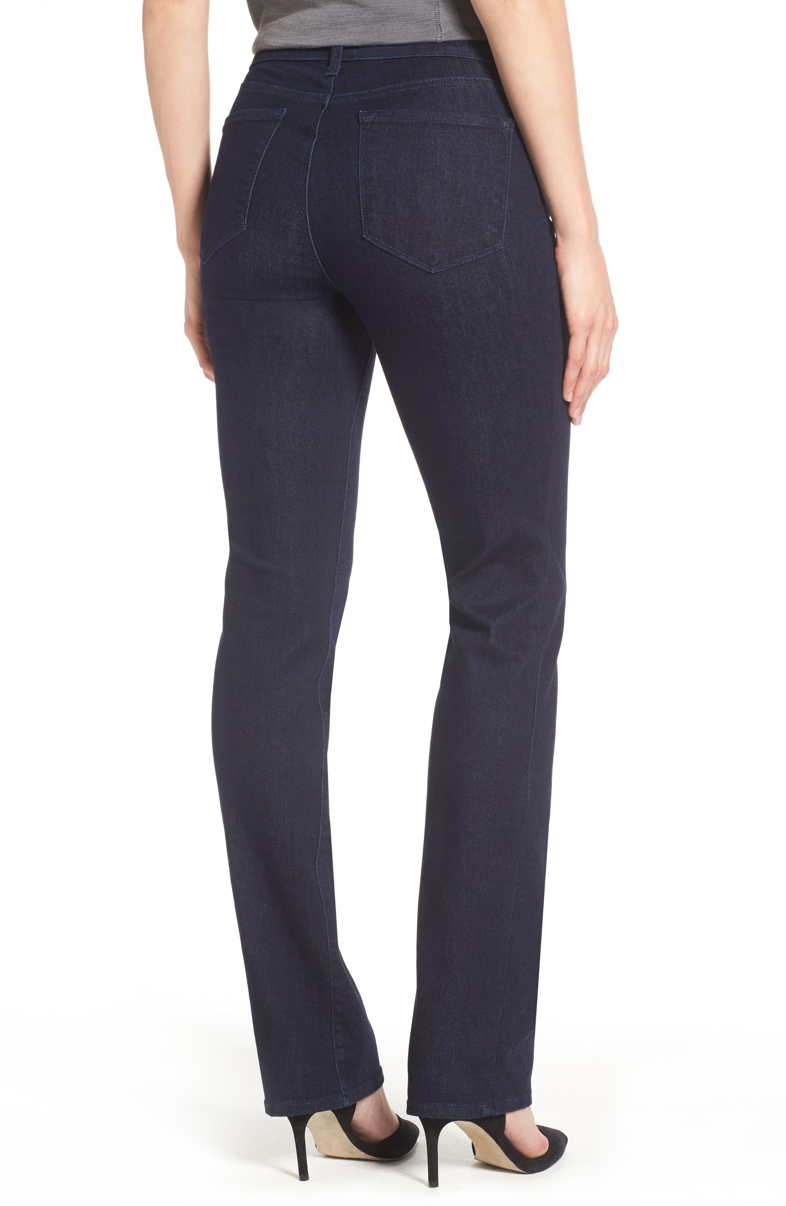 Alternate Image 2  - NYDJ Marilyn Stretch Straight Leg Jeans (Rinse) (Regular & Petite)
